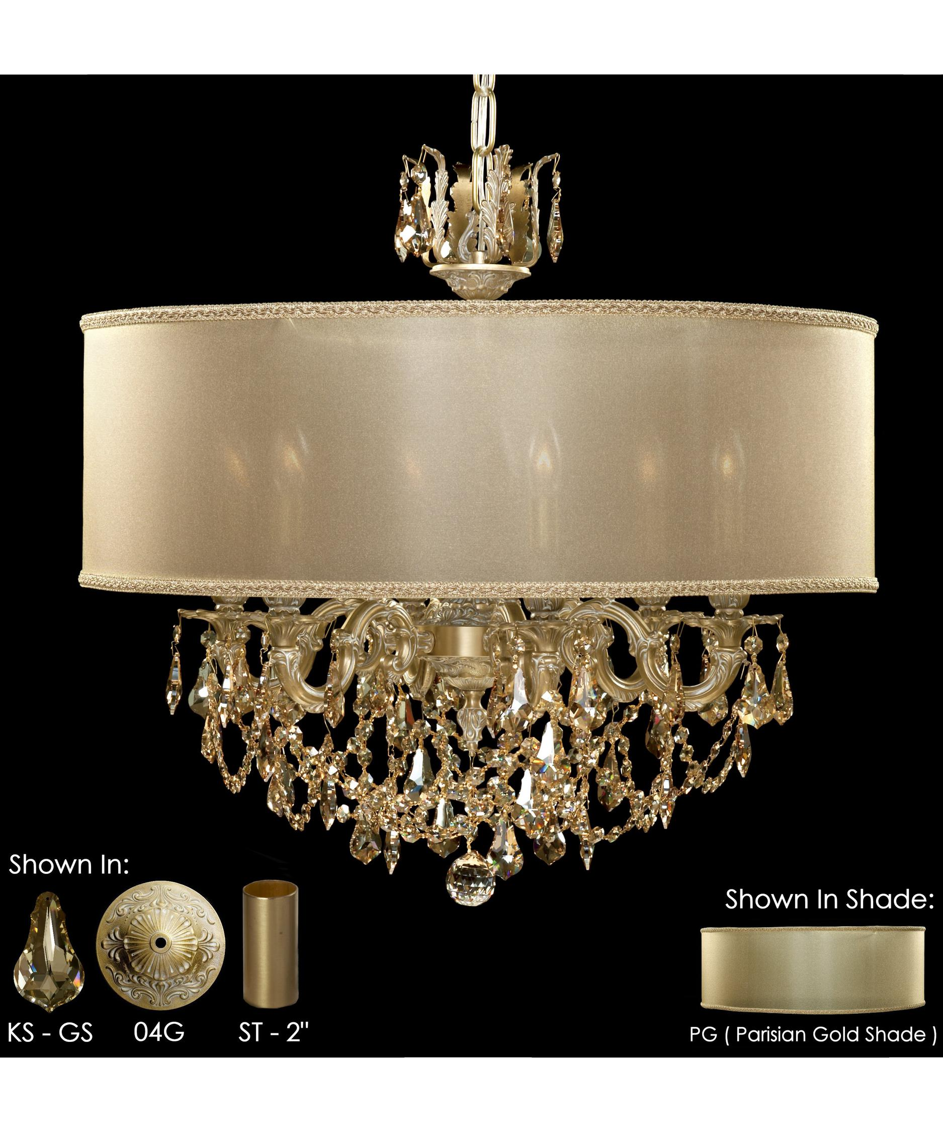 American Brass and Crystal Llydia 24 Inch Wide 6 Light Chandelier – American Brass and Crystal Chandeliers