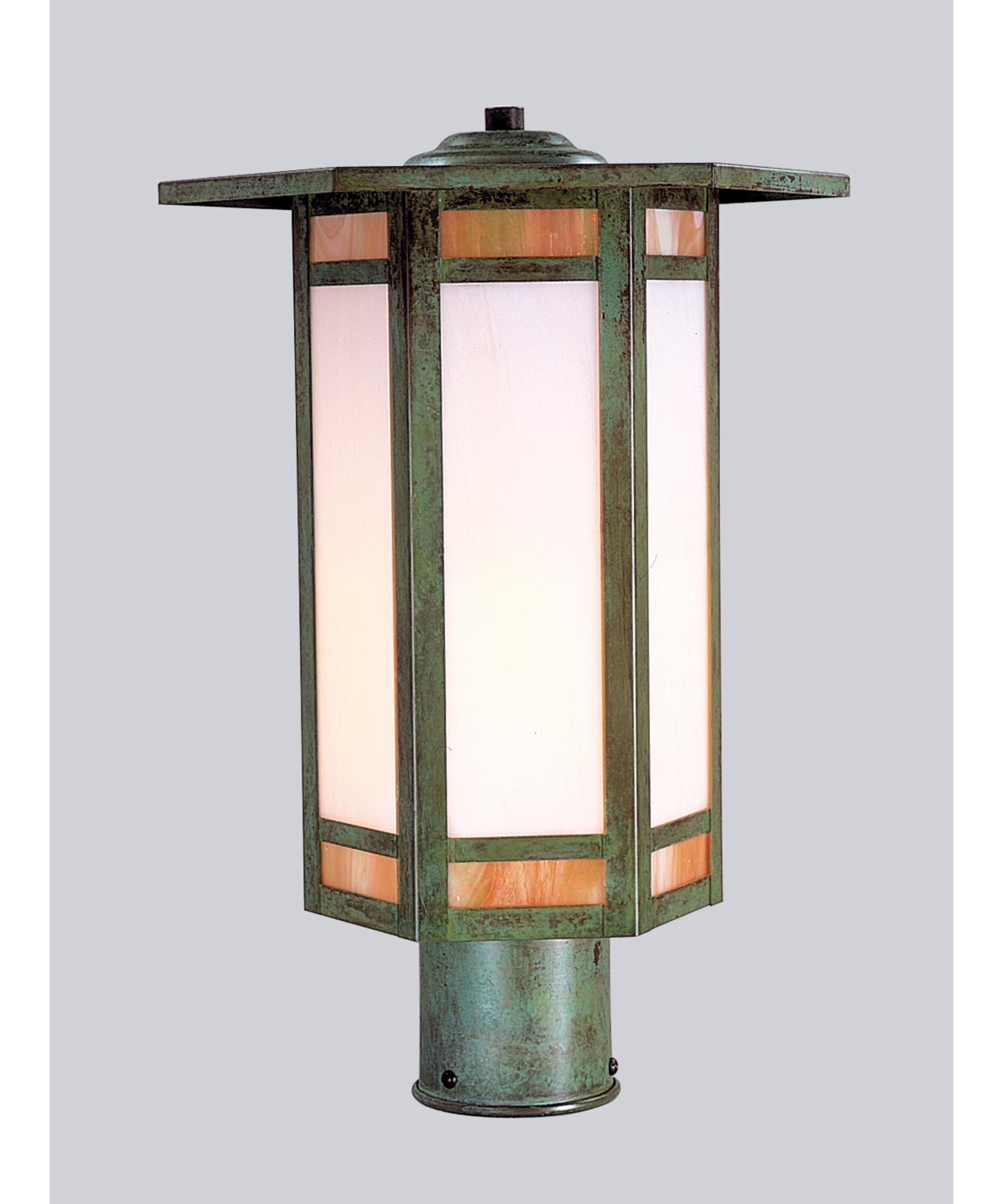 shown in bronze finish and gold white iridescent white opalescent combination glass arroyo craftsman lighting