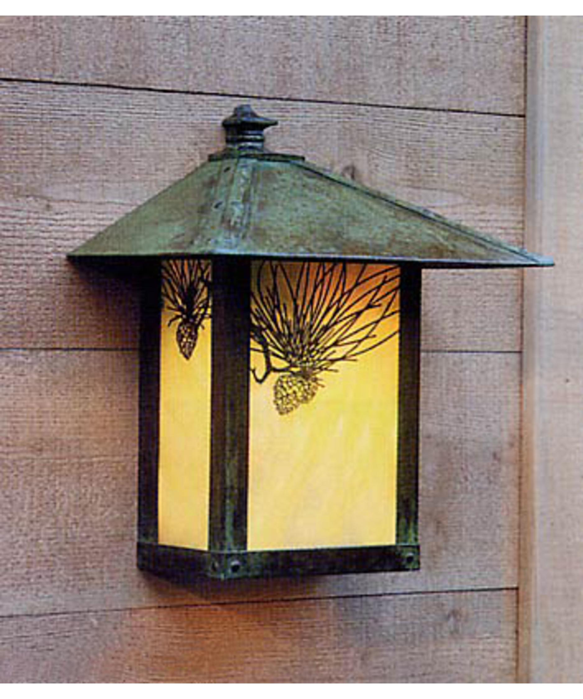 Shown In Verdigris Patina Finish Gold White Iridescent Glass And Pine Needle Accent
