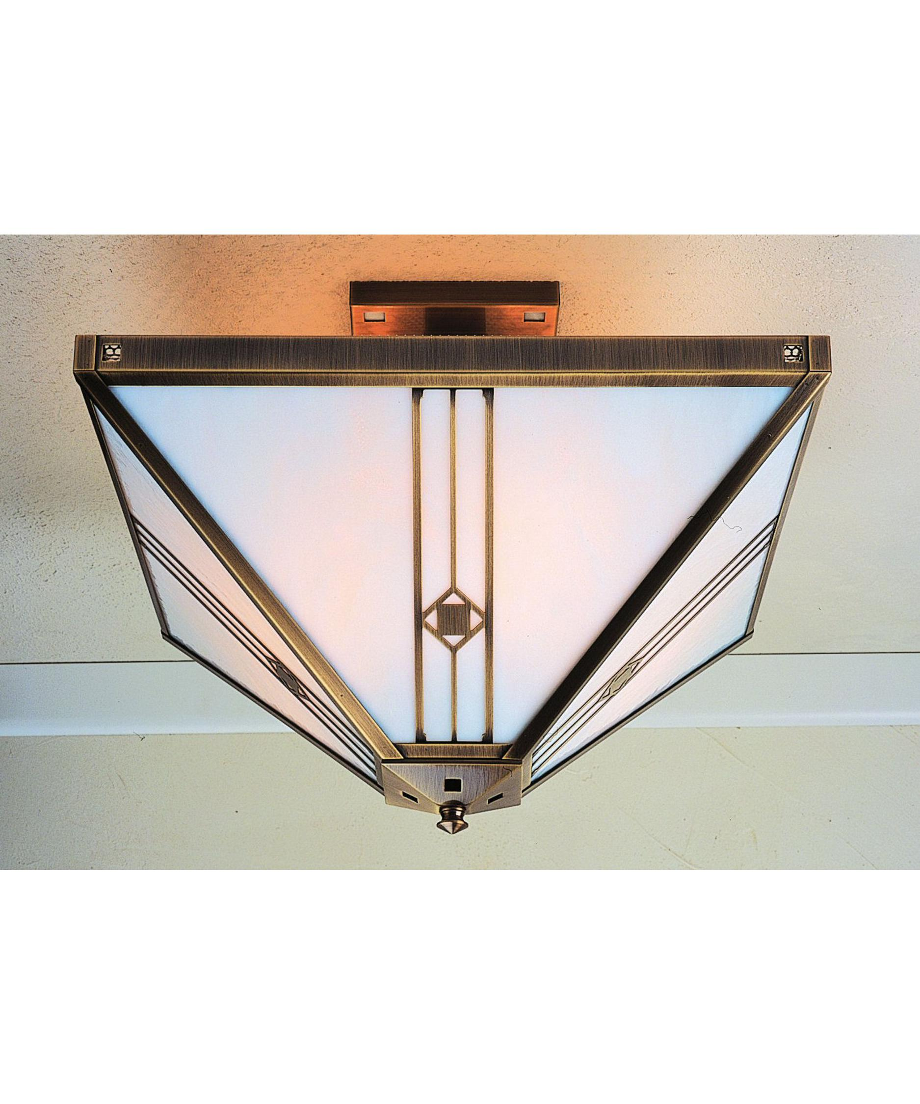shown in antique brass finish with white opalescent glass arroyo craftsman lighting