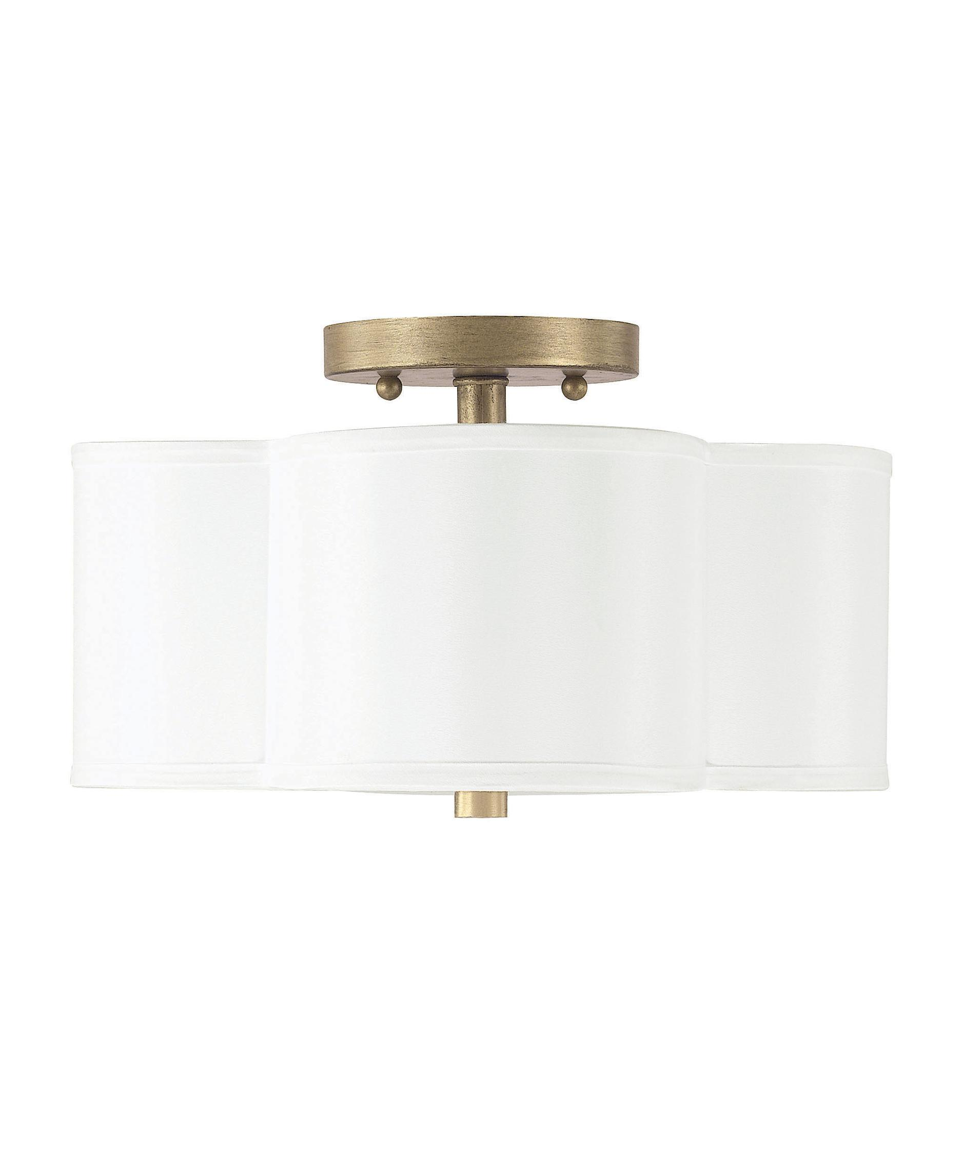 shown in brushed gold finish and white shade - Capital Lighting
