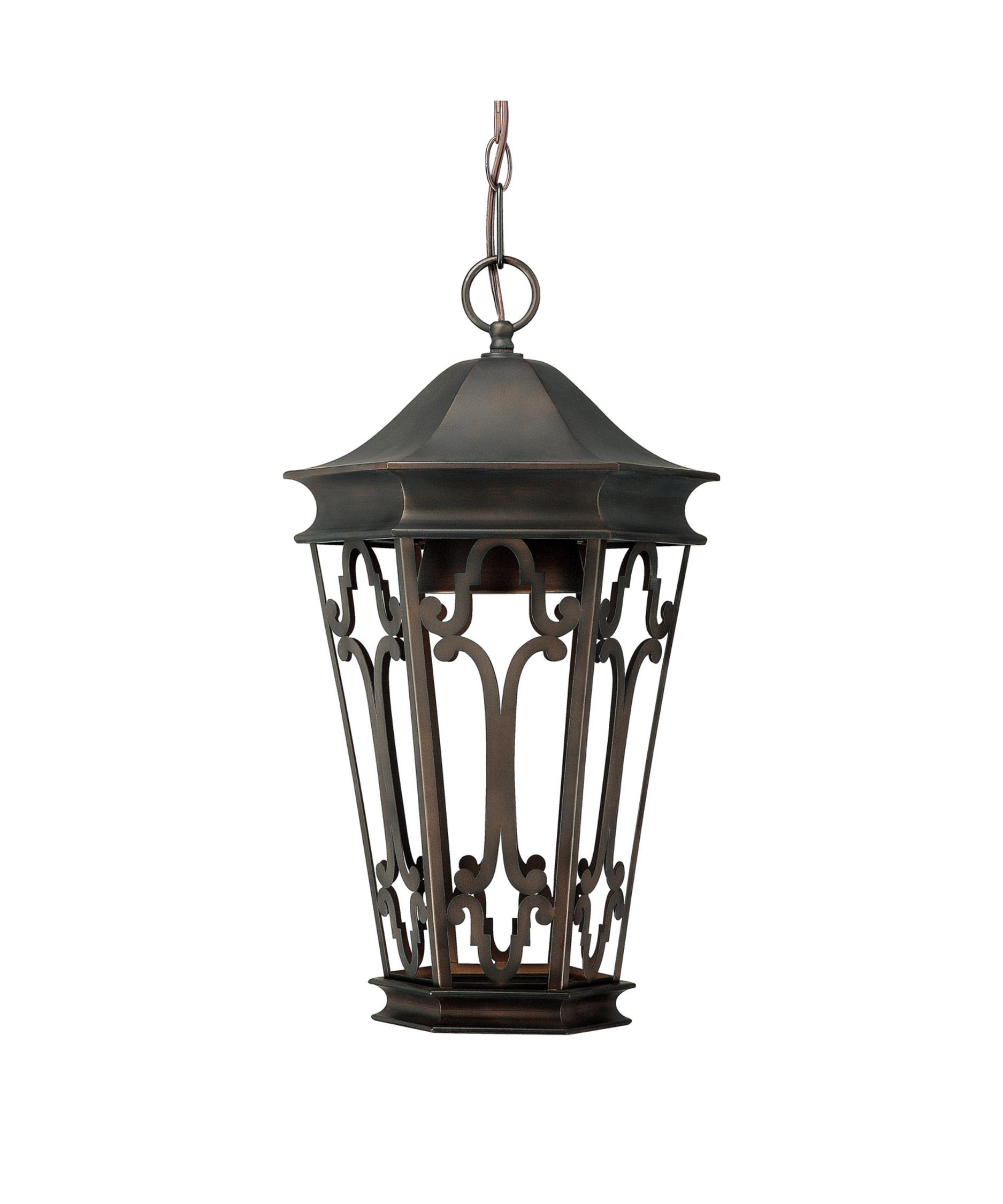 Outdoor hanging lamp - Shown In Old Bronze Finish