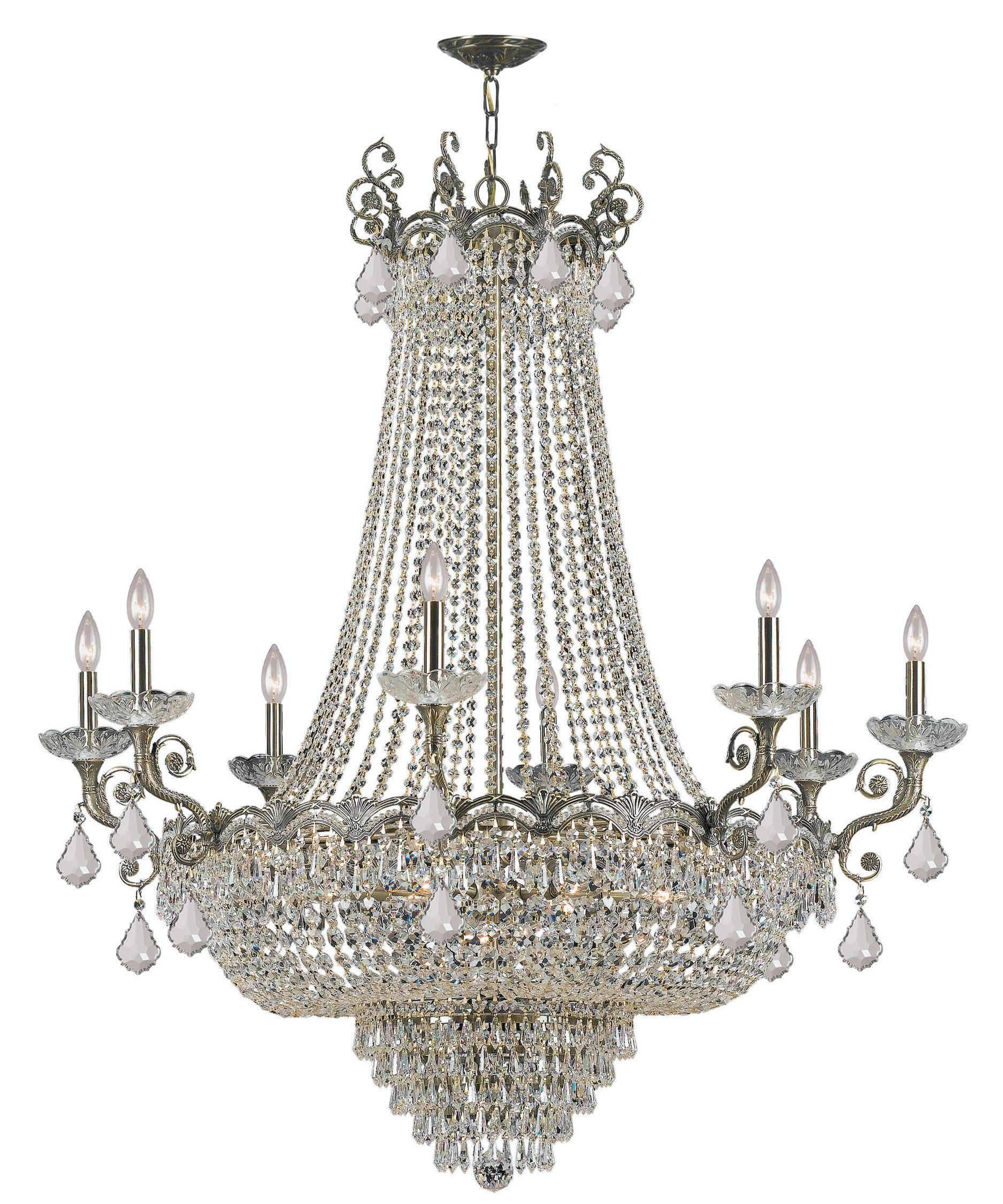 crystorama majestic 46 inch wide 20 light chandelier capitol lighting - Crystorama