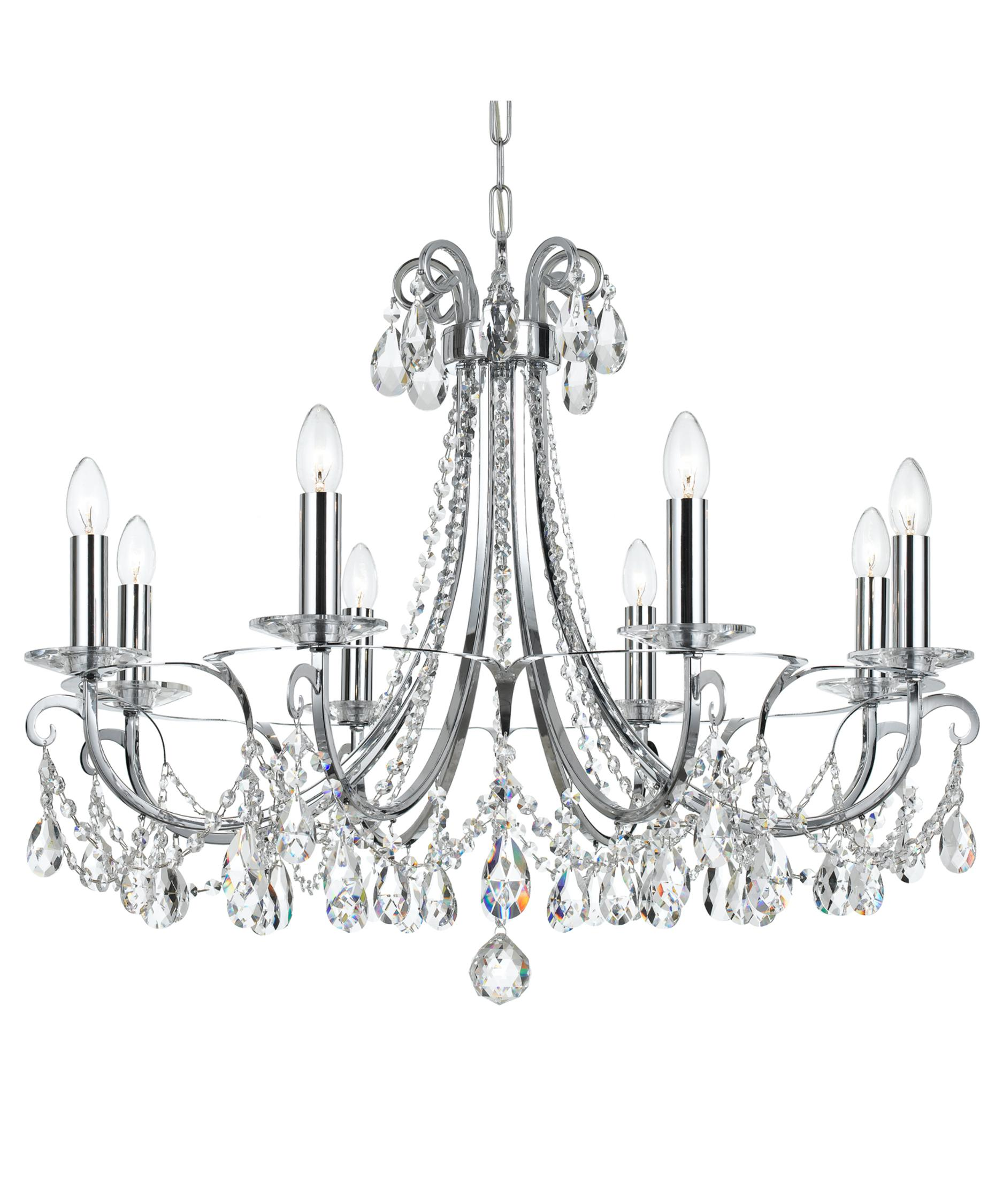 shown in polished chrome finish and clear hand cut crystal - Crystorama