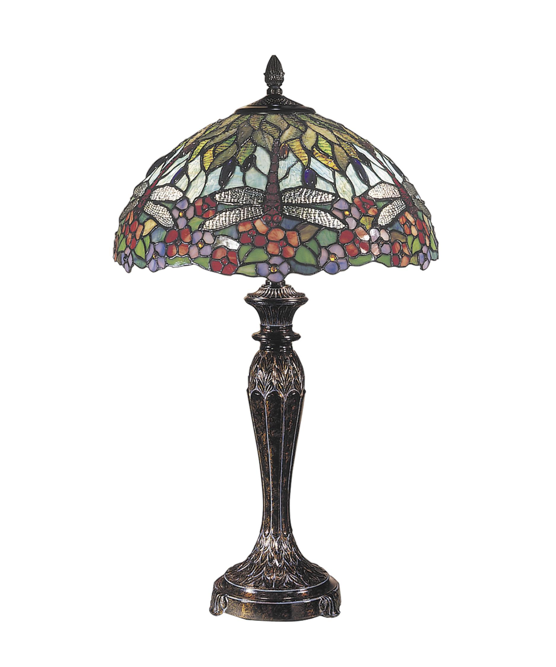 Dale Tiffany Dragonfly 29 Inch High Table Lamp – Dragonfly Desk Lamp