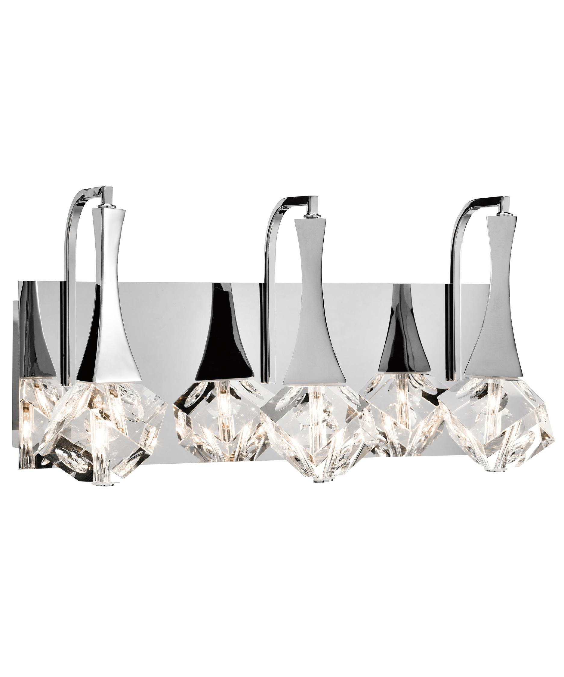 Bathroom Vanity Lights Chrome Finish elan 83136 rockne 18 inch wide bath vanity light | capitol
