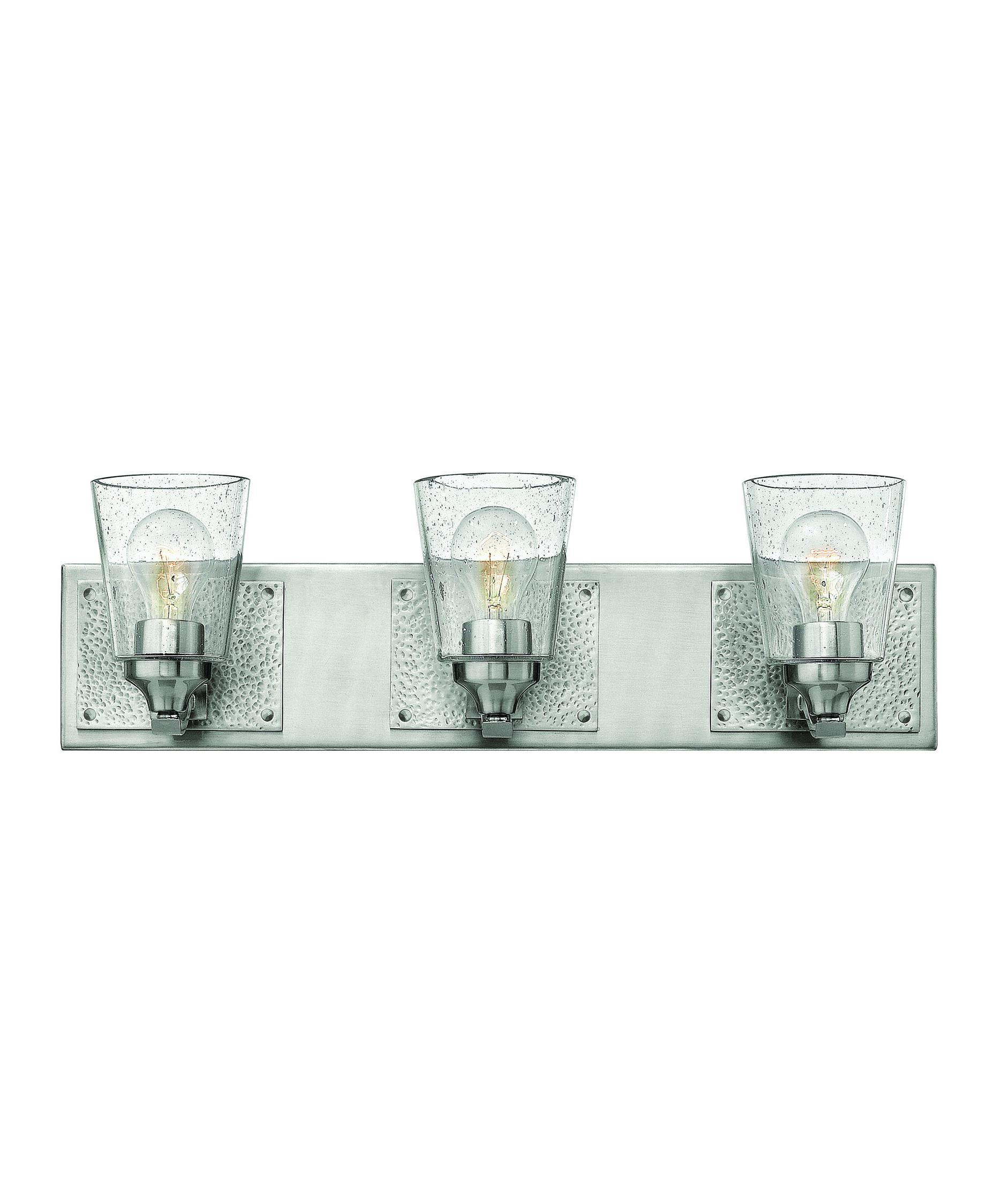 Bathroom Vanity Lights Nickel hinkley lighting 51823 jackson 24 inch wide bath vanity light