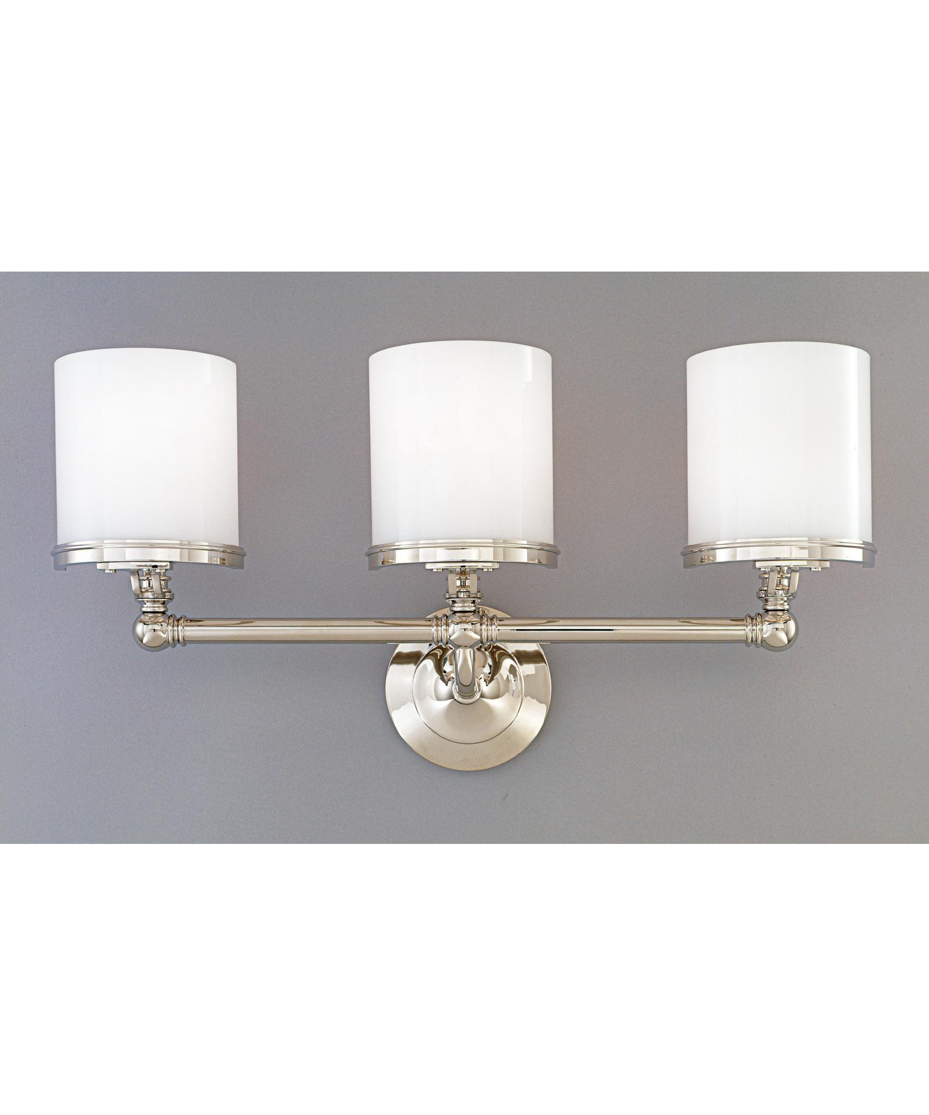 Bathroom Vanity Lights Polished Nickel hudson valley 943 lowell 23 inch wide bath vanity light | capitol