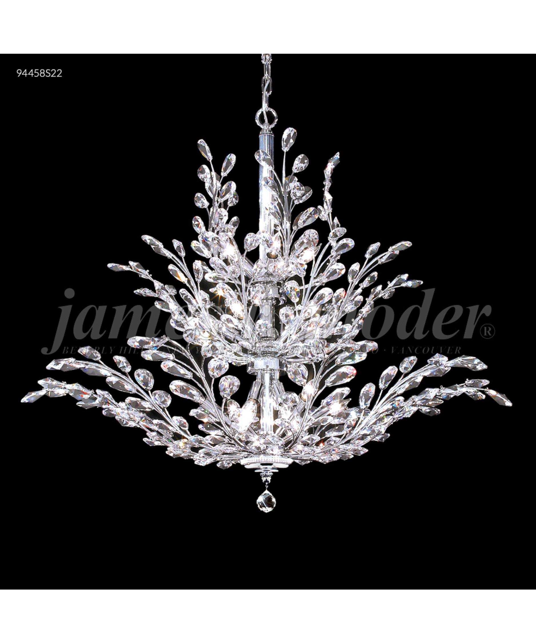 James Moder Chandeliers: Shown in Silver finish and Imperial Clear crystal,Lighting