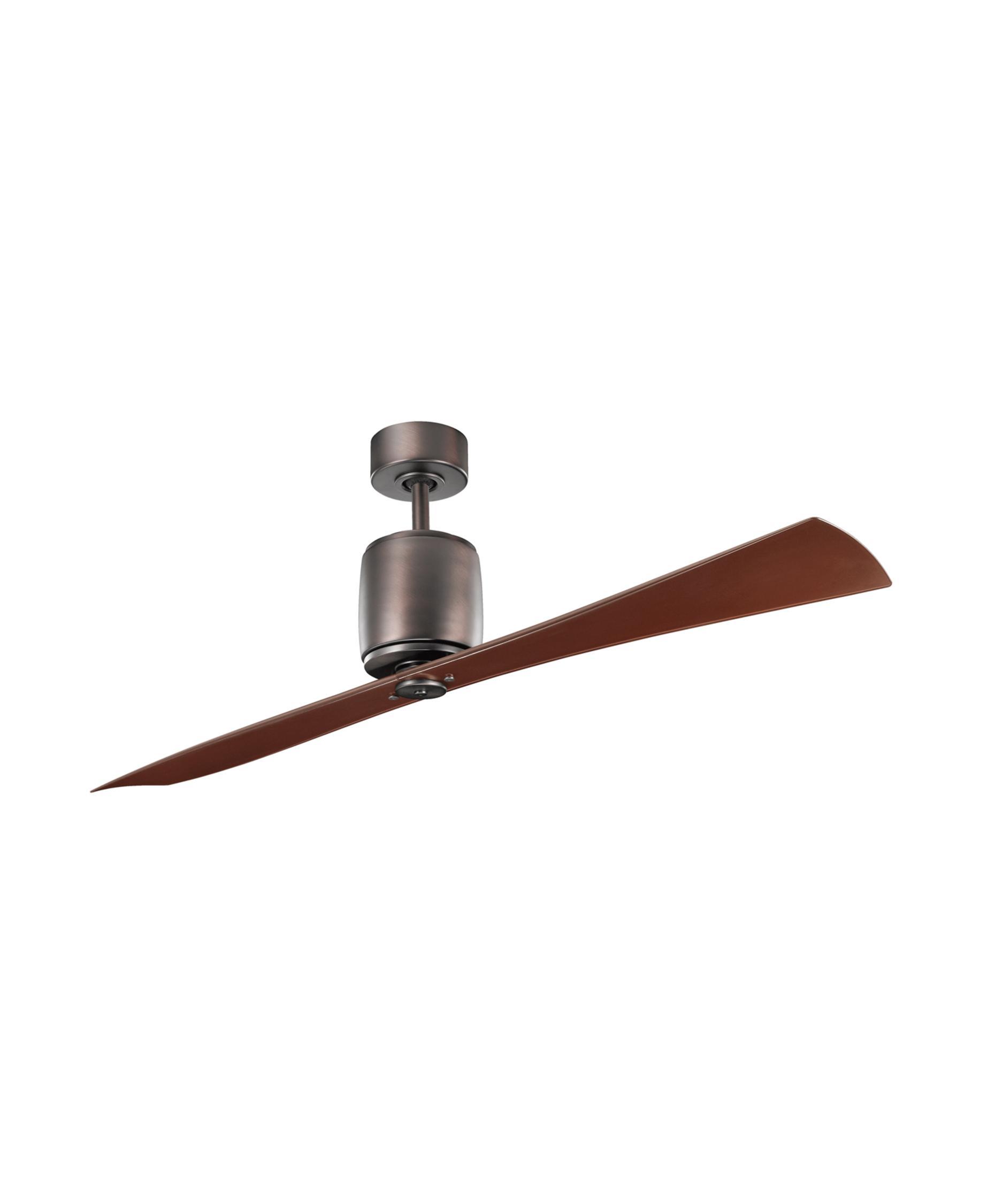kichler 300160 ferron 60 inch 2 blade ceiling fan | capitol