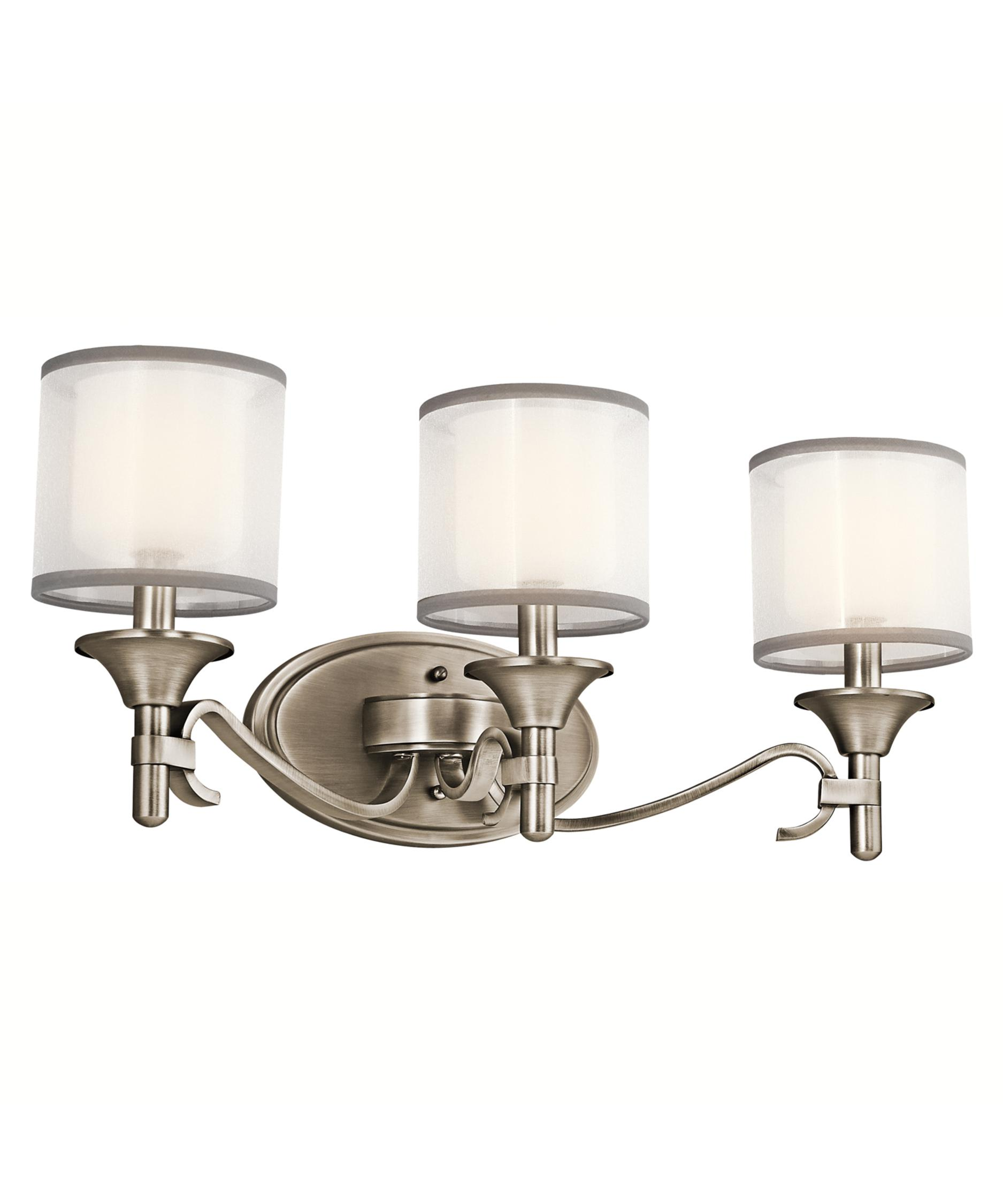 kichler lacey 22 inch wide bath vanity light capitol lighting - Bathroom Vanity Light Height