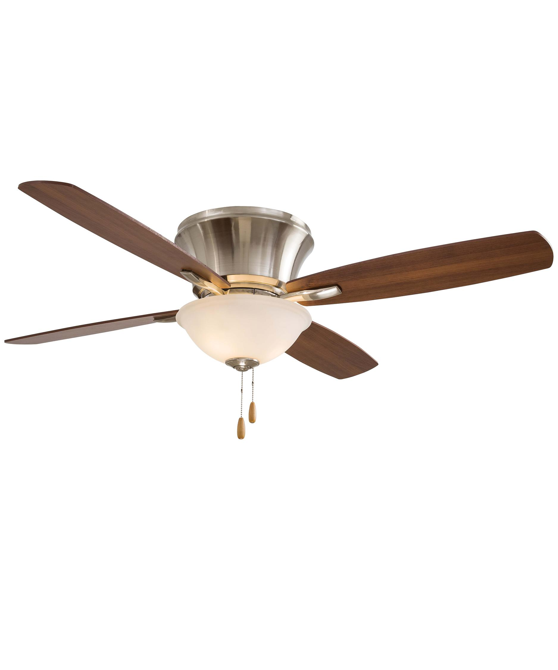 shown in brushed nickel finish and frosted white glass - Minka Aire Fans
