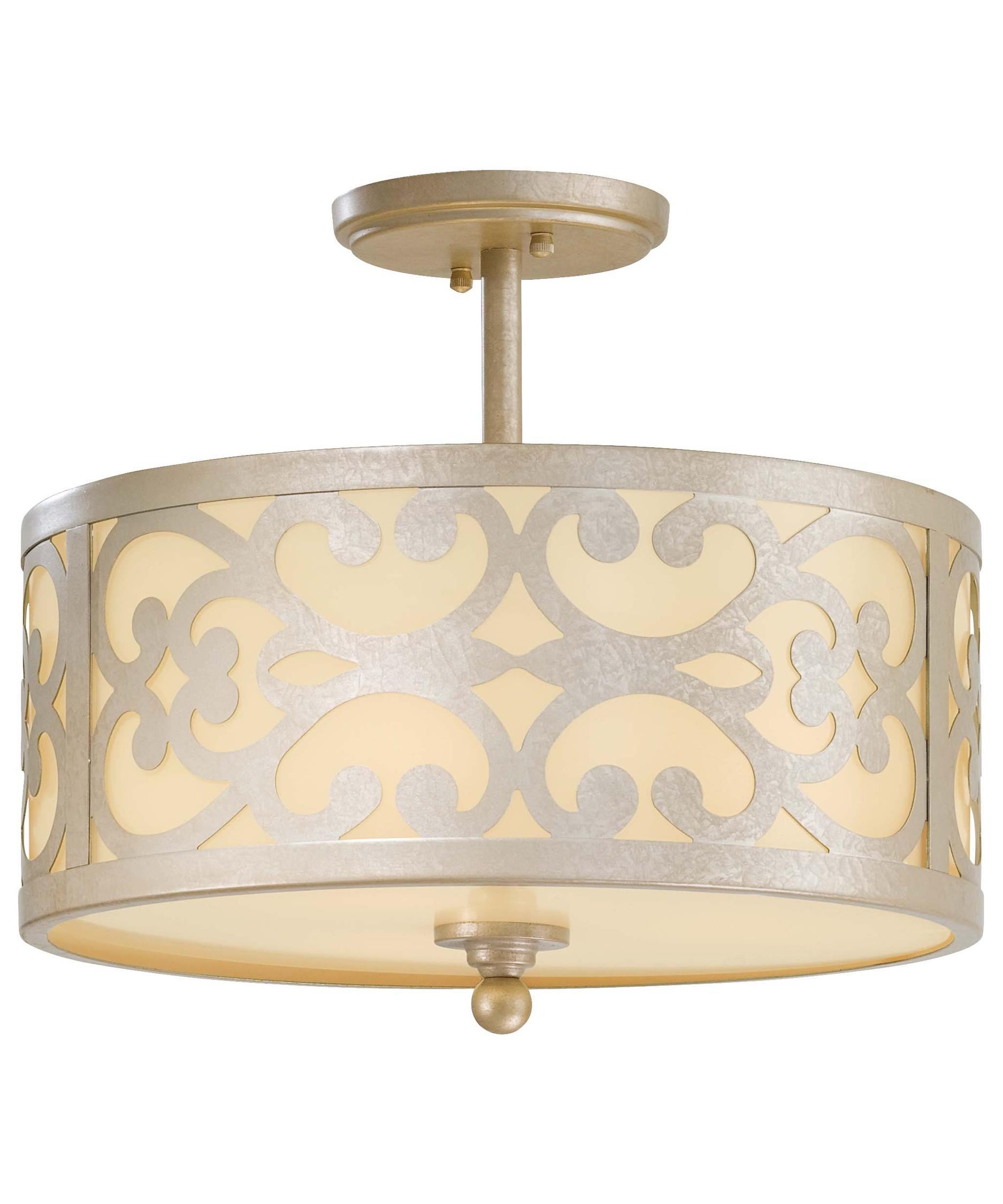 minka lavery nanti 14 inch wide semi flush mount capitol lighting - Minka Lighting