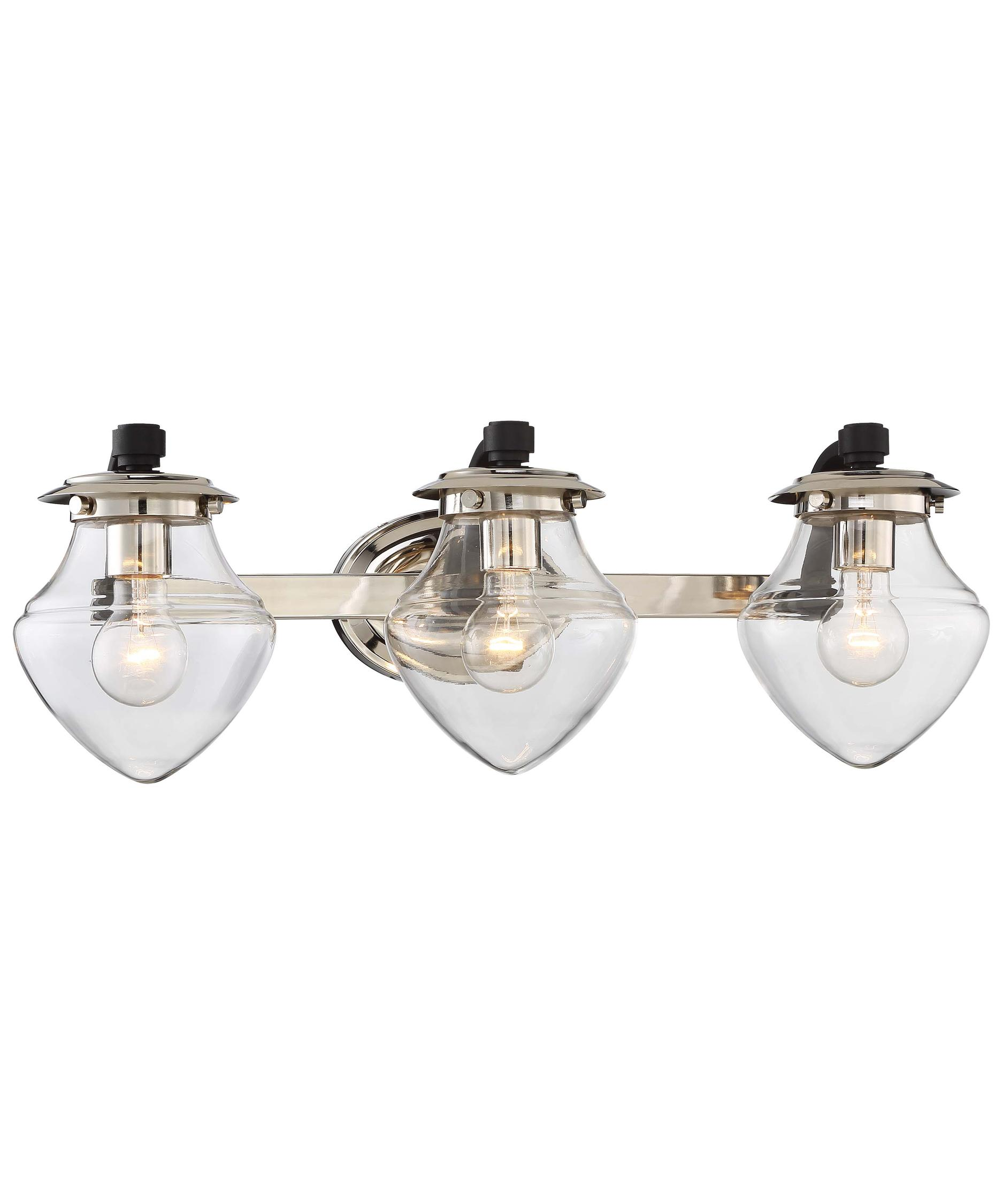 Shown In Polished Nickel Finish And Clear Glass