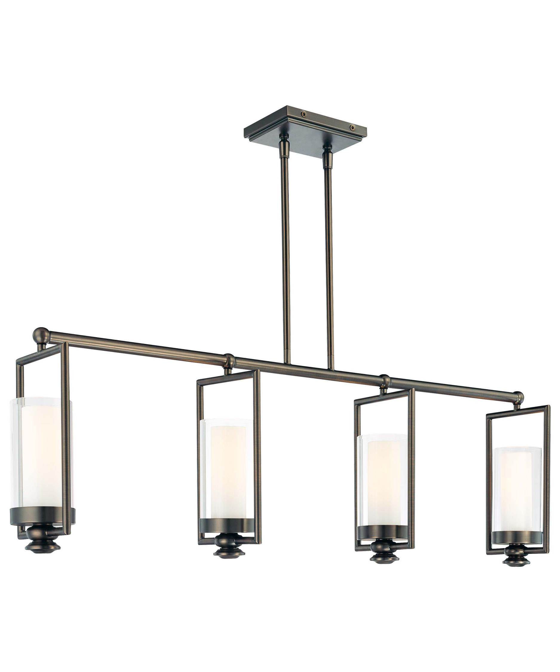 minka lavery harvard court 42 inch wide island light capitol lighting - Minka Lighting