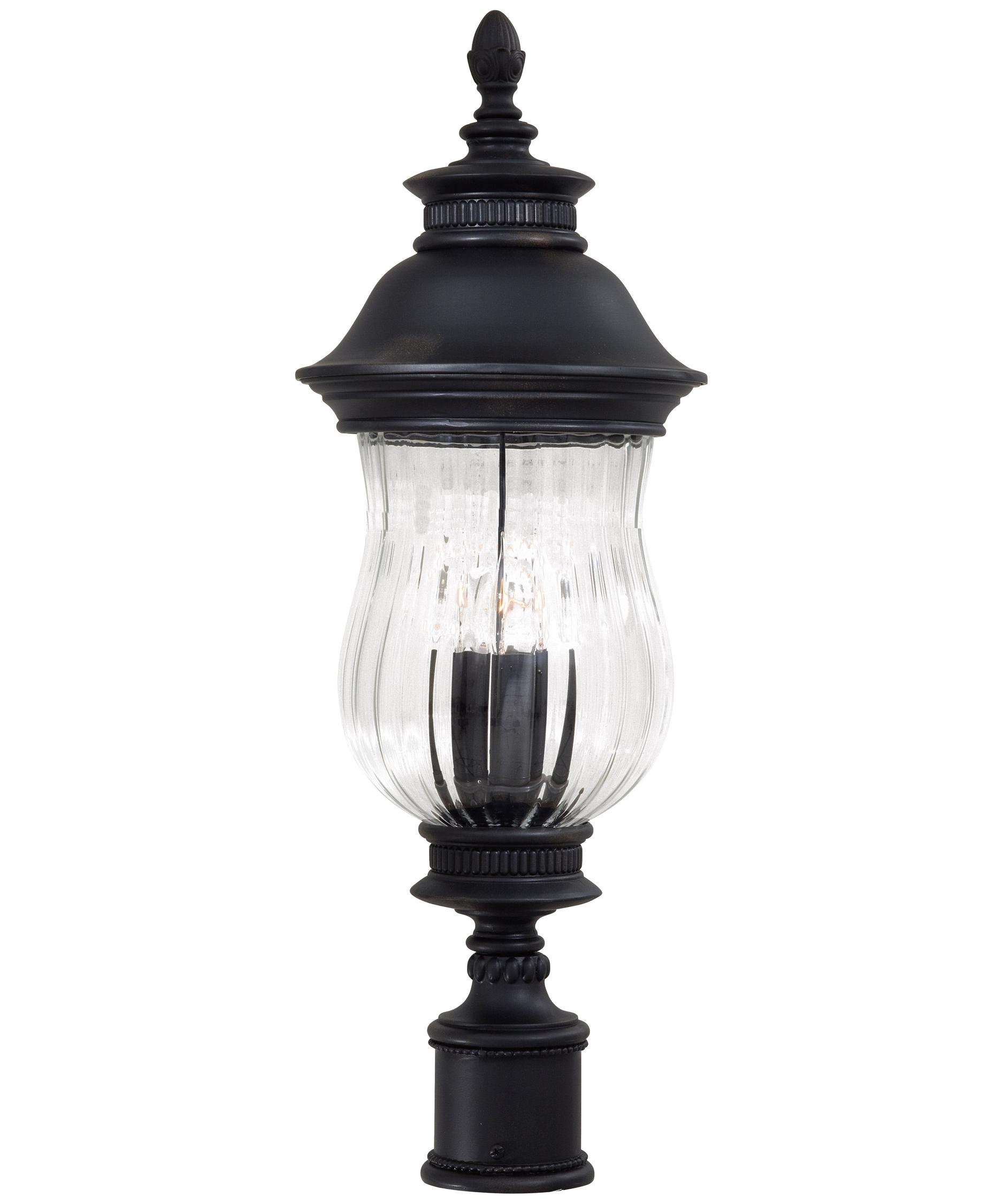 minka lavery newport 10 inch wide 3 light outdoor post lamp capitol lighting - Minka Lighting