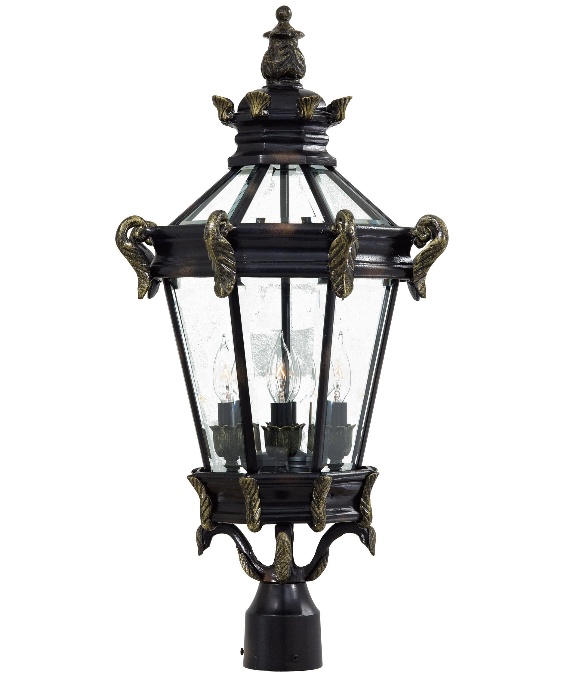 shown in heritage with gold finish and clear beveled glass - Minka Lighting