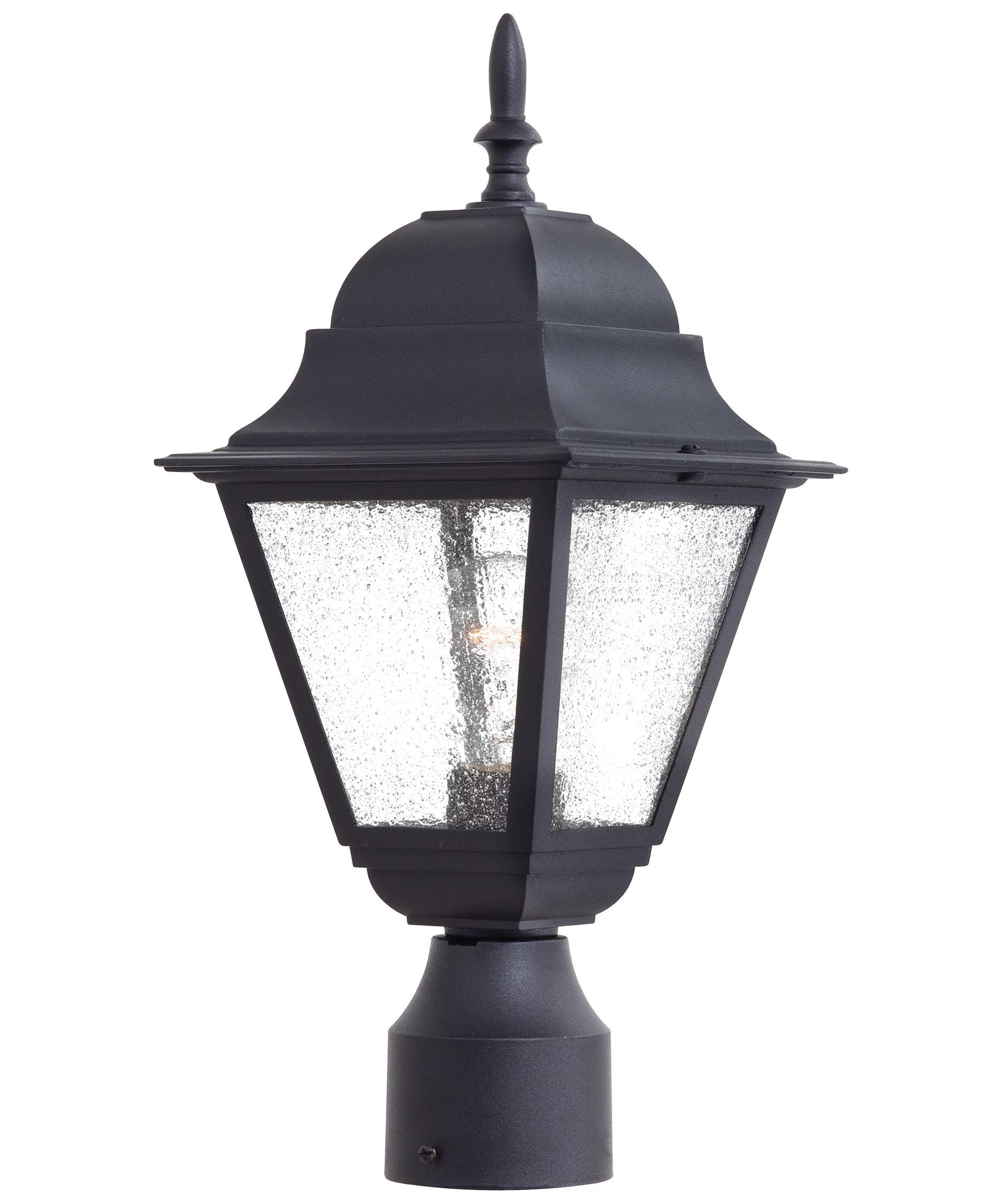 Wood outdoor lamp post - Bay Hill 8 Inch Wide 1 Light Outdoor Post Lamp