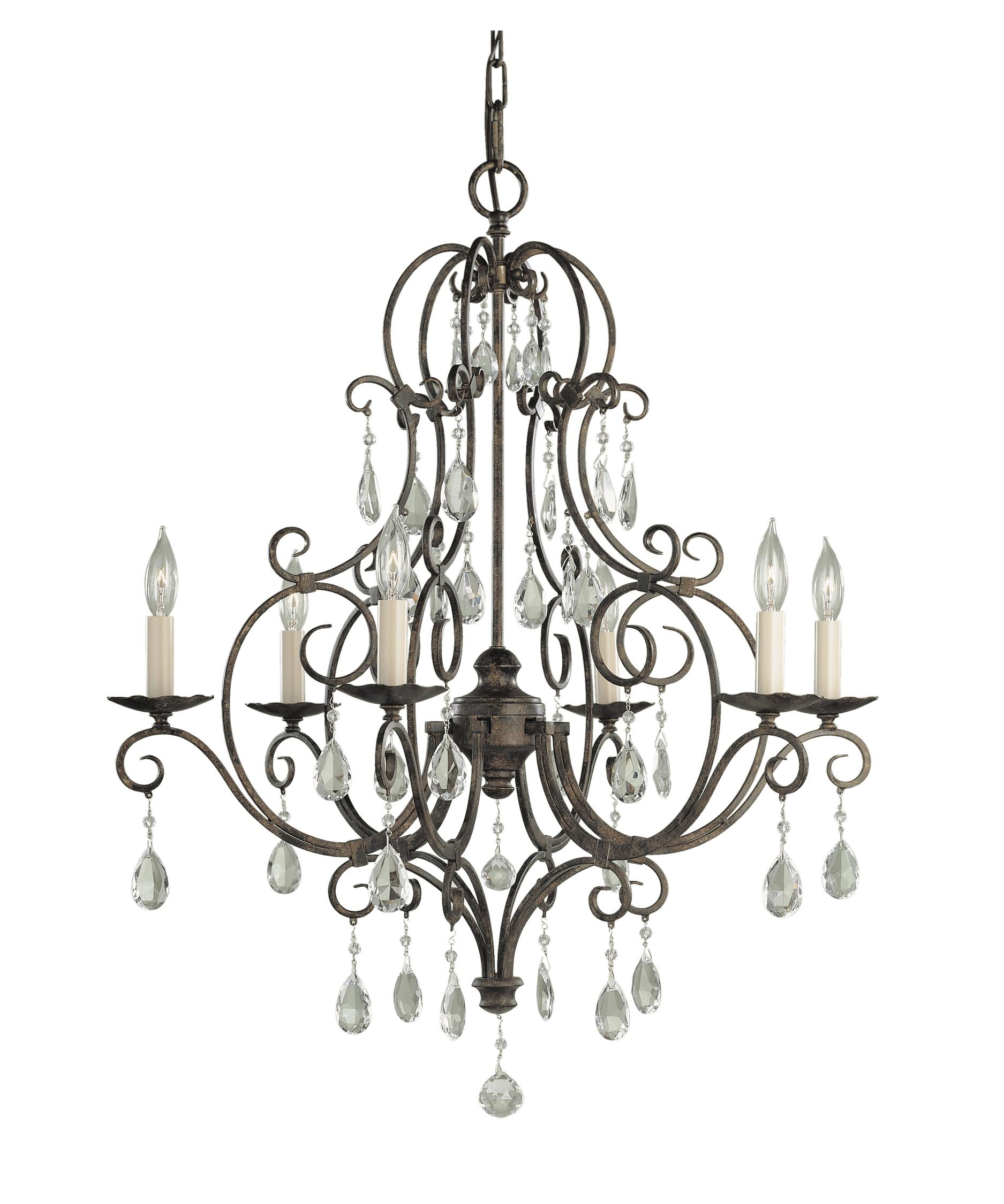 Murray Feiss Chateau 25 Inch Wide 6 Light Chandelier – Murray Feiss Chandeliers