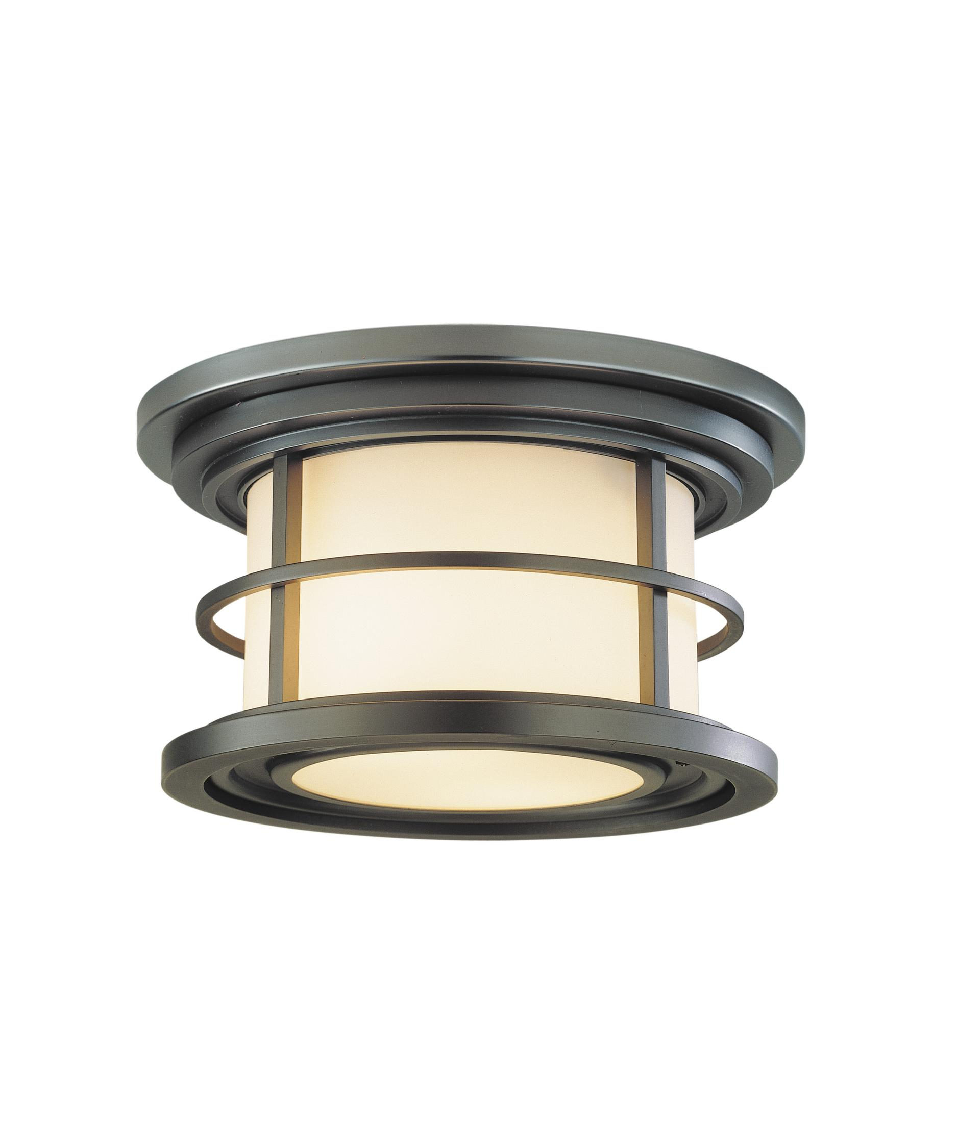 Flush mount outdoor lighting - Murray Feiss Ol2213 Lighthouse 10 Inch Wide 2 Light Outdoor Flush