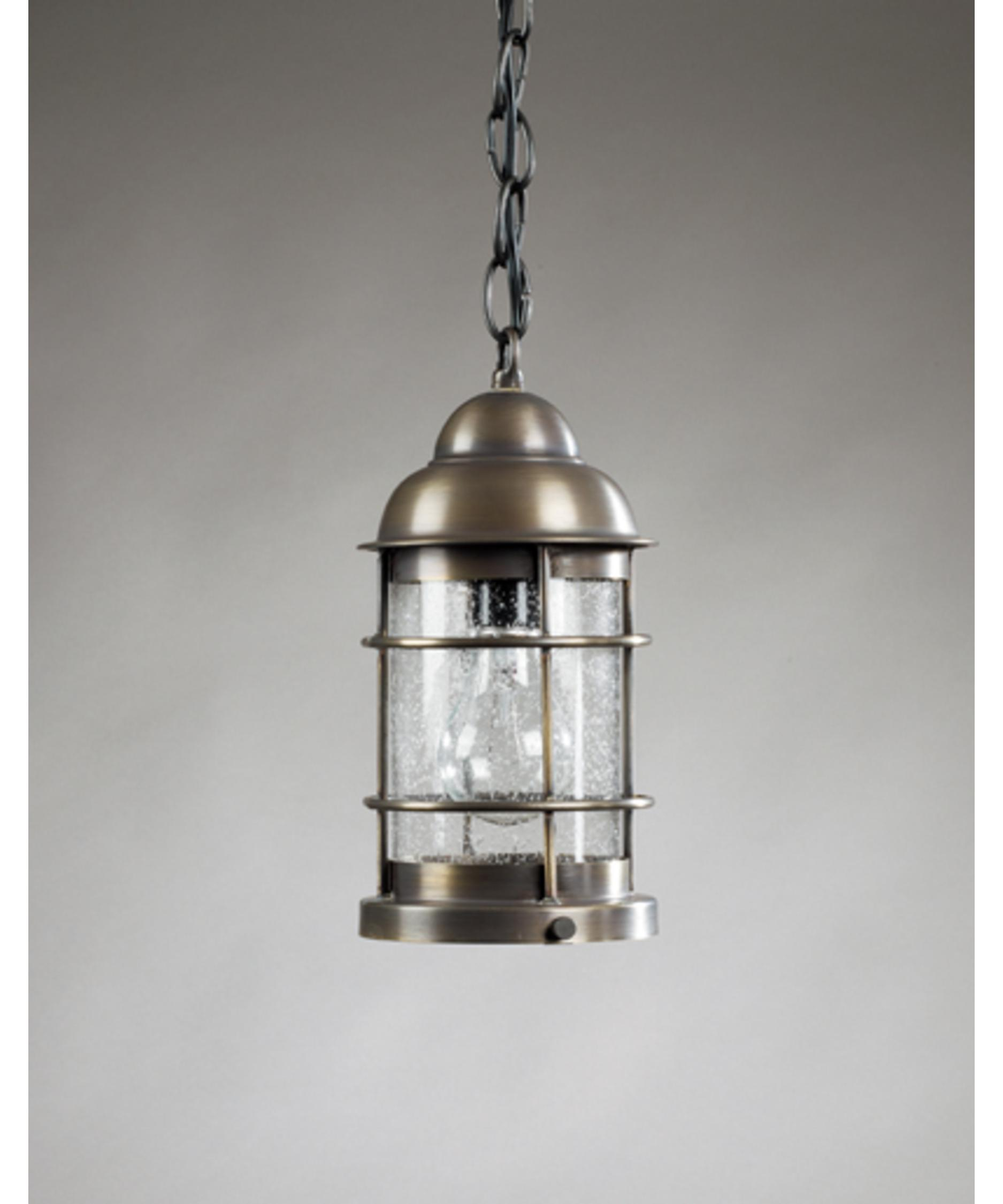 shown with clear seedy glass ceiling lantern pendant lighting