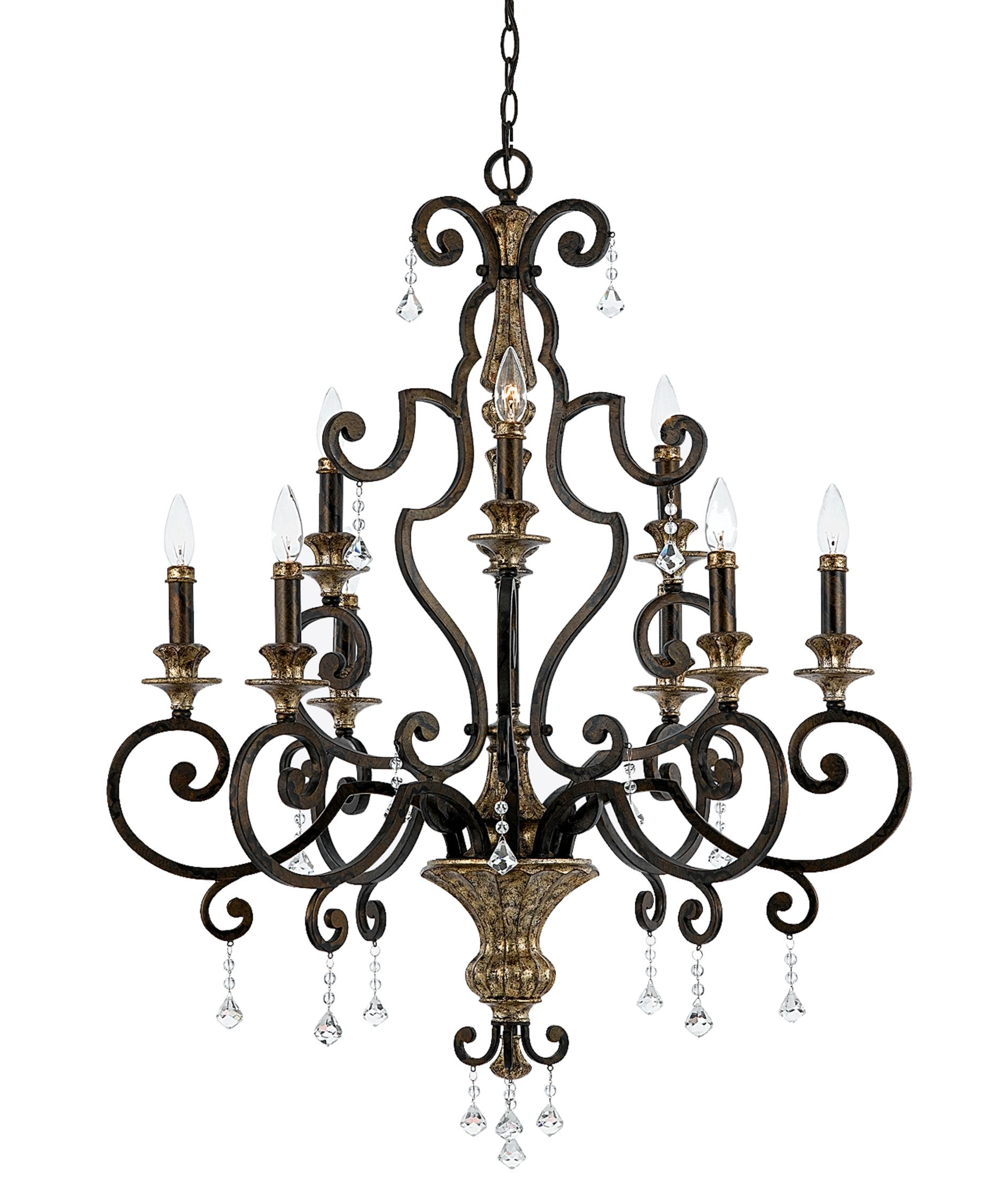Quoizel Marquette 32 Inch Wide 9 Light Chandelier – Quoizel Chandelier