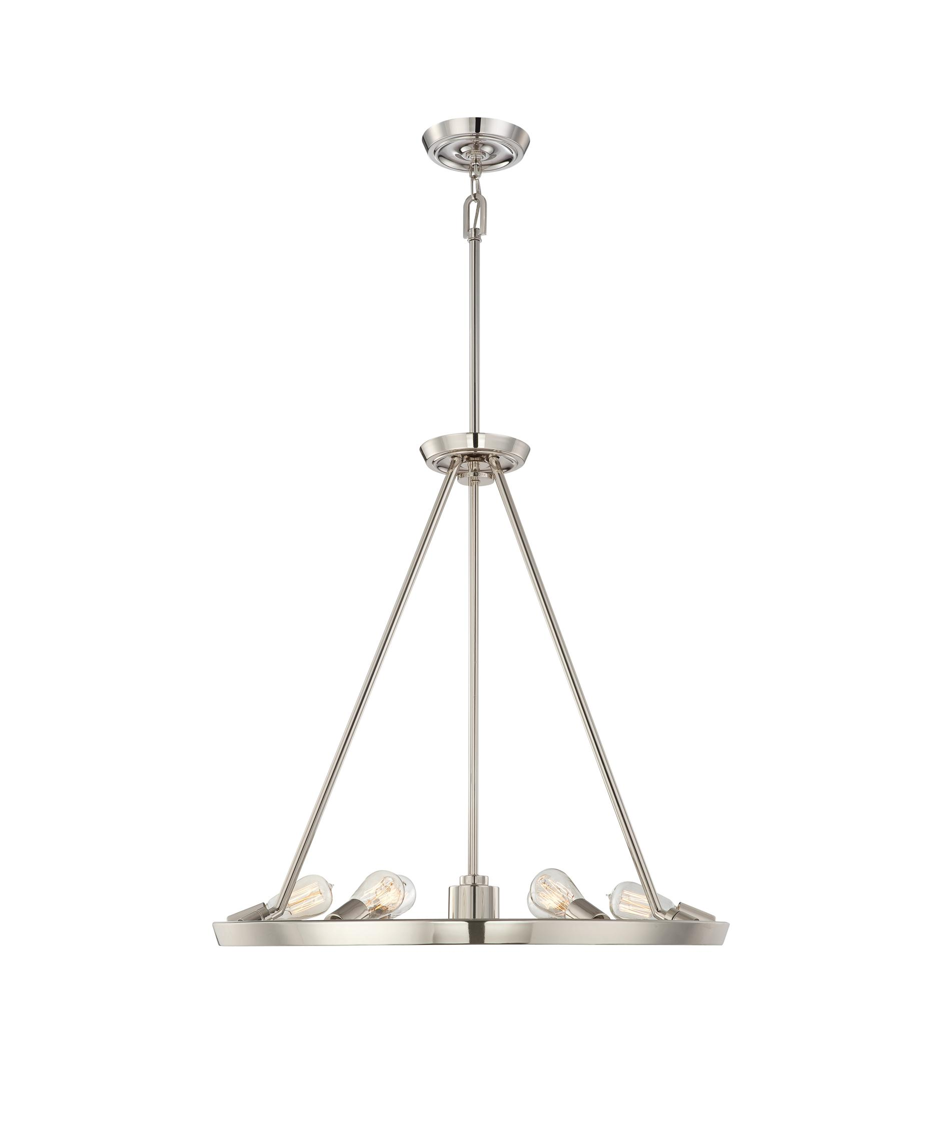 Quoizel Uptown Theater Row 28 Inch Wide 6 Light Chandelier – Quoizel Chandelier