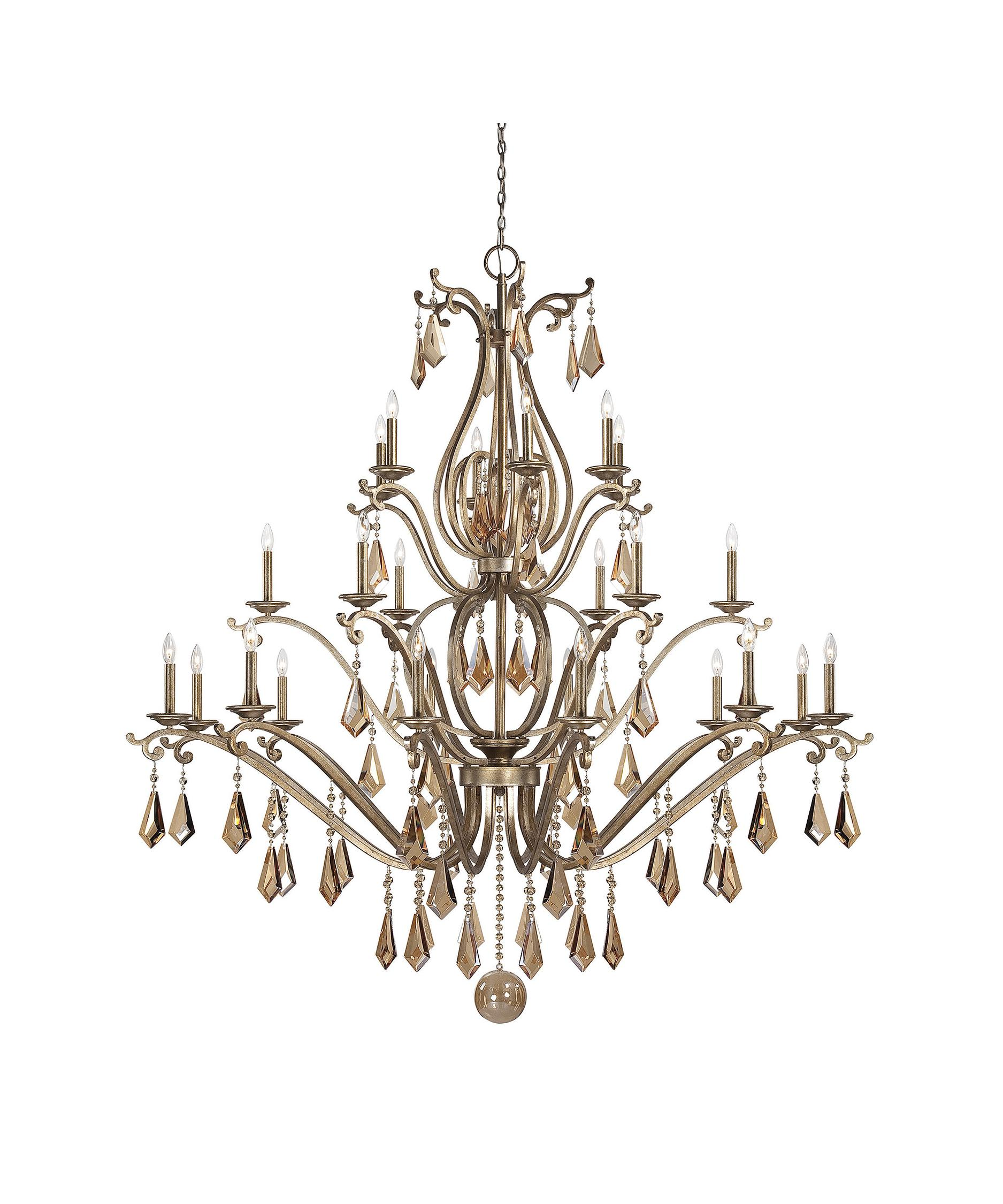 shown in oxidized silver finish and champagne crystal - Savoy Lighting