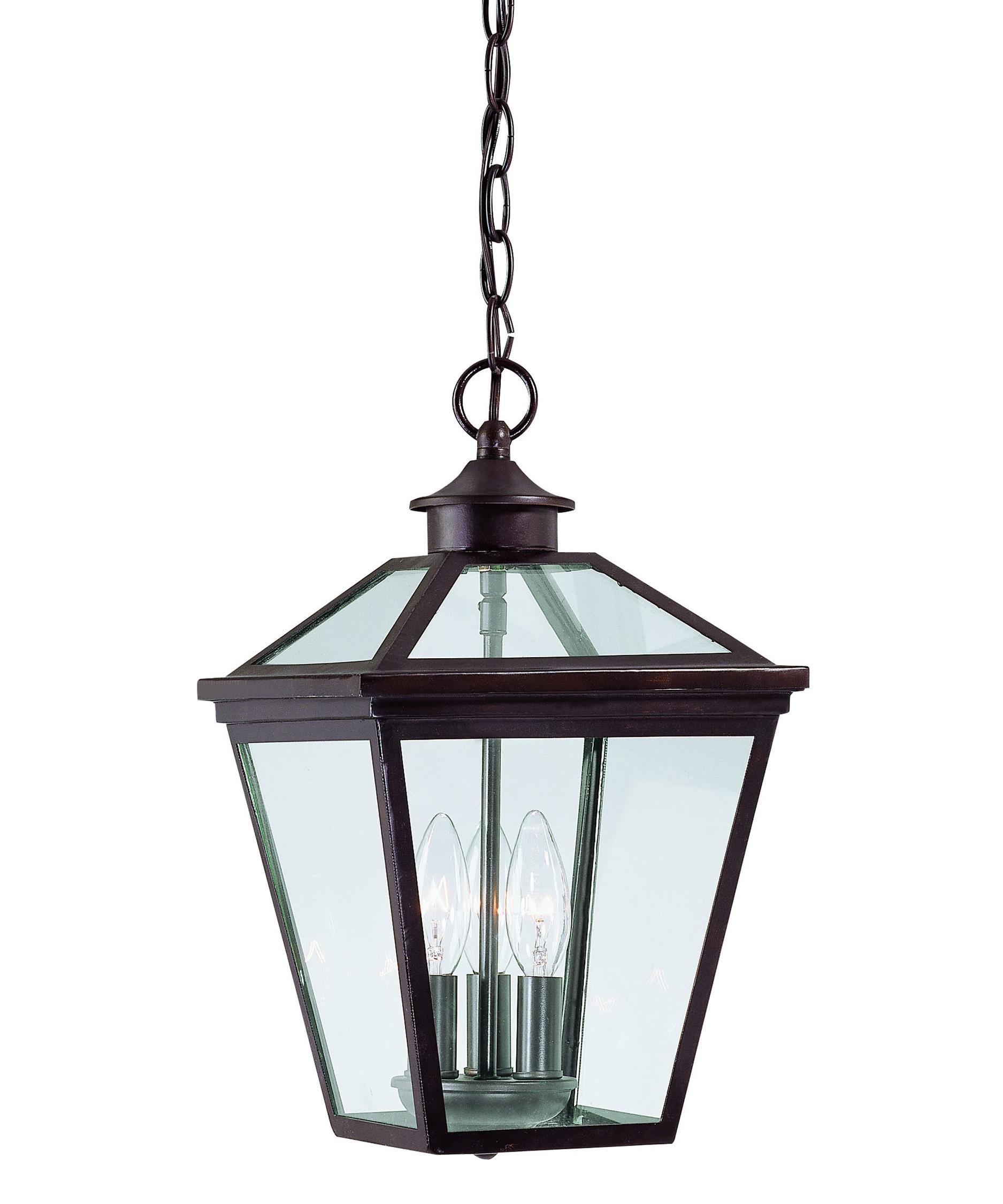 Outdoor hanging lighting - Savoy House 5 146 13 Ellijay 9 Inch Wide 3 Light Outdoor Hanging Lantern Capitol Lighting 1 800lighting Com