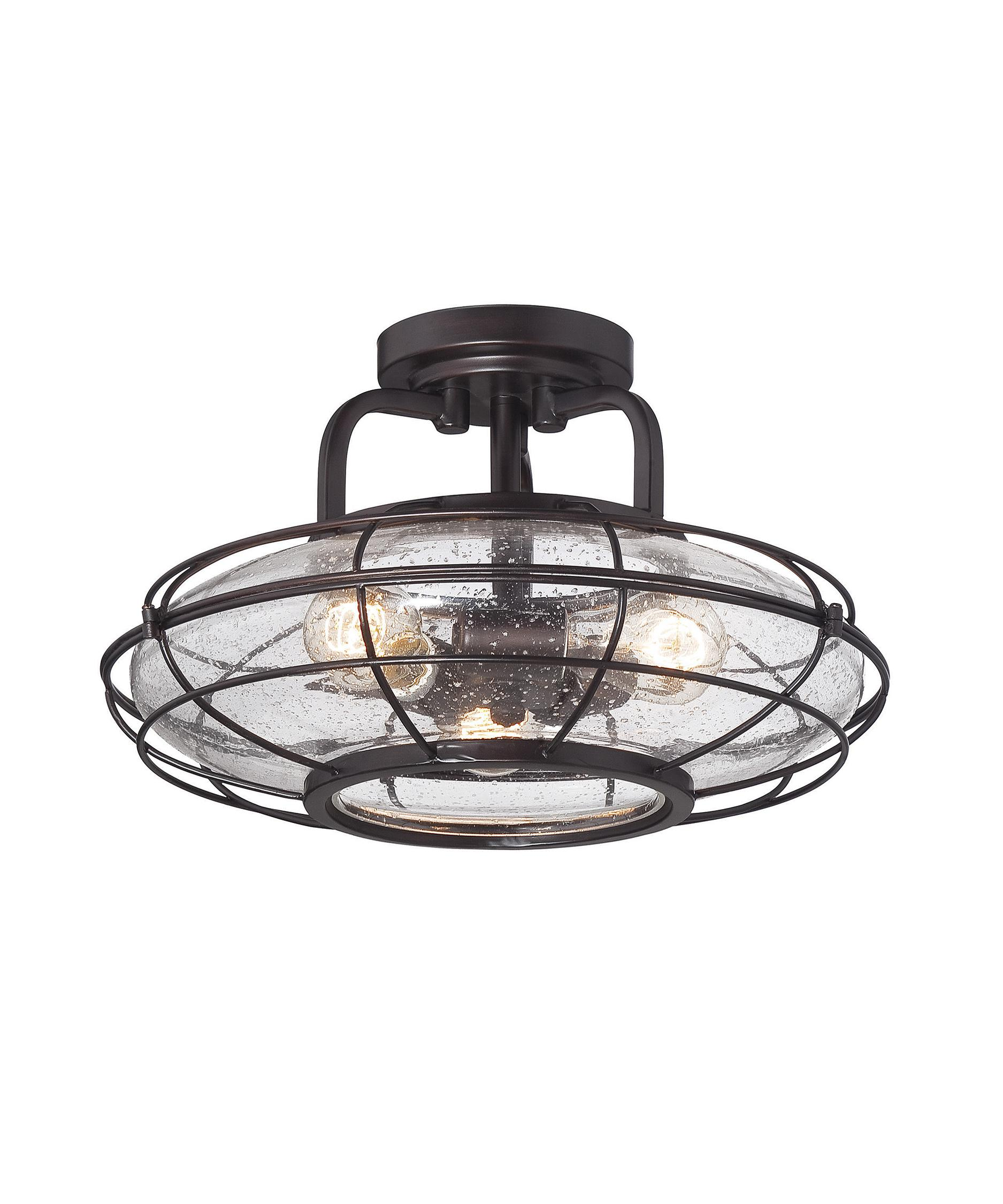 shown in english bronze finish and clear seedy glass - Savoy Lighting