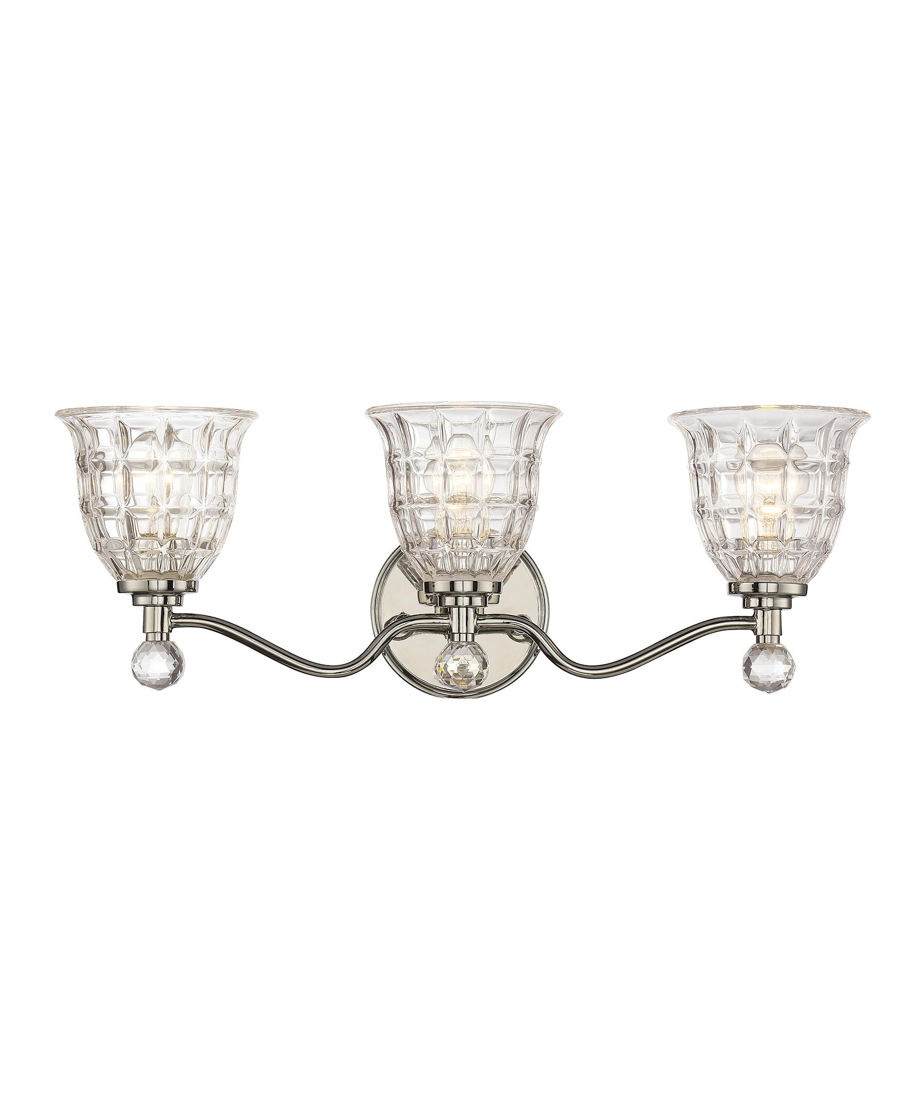 Bathroom Vanity Lights Polished Nickel savoy house 8-880-3-109 birone 24 inch wide bath vanity light