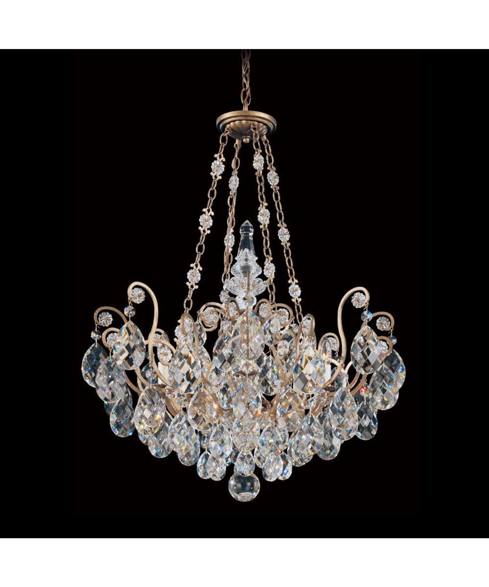 shown in french provincial finish and golden teak swarovski elements crystal - Schonbek Lighting