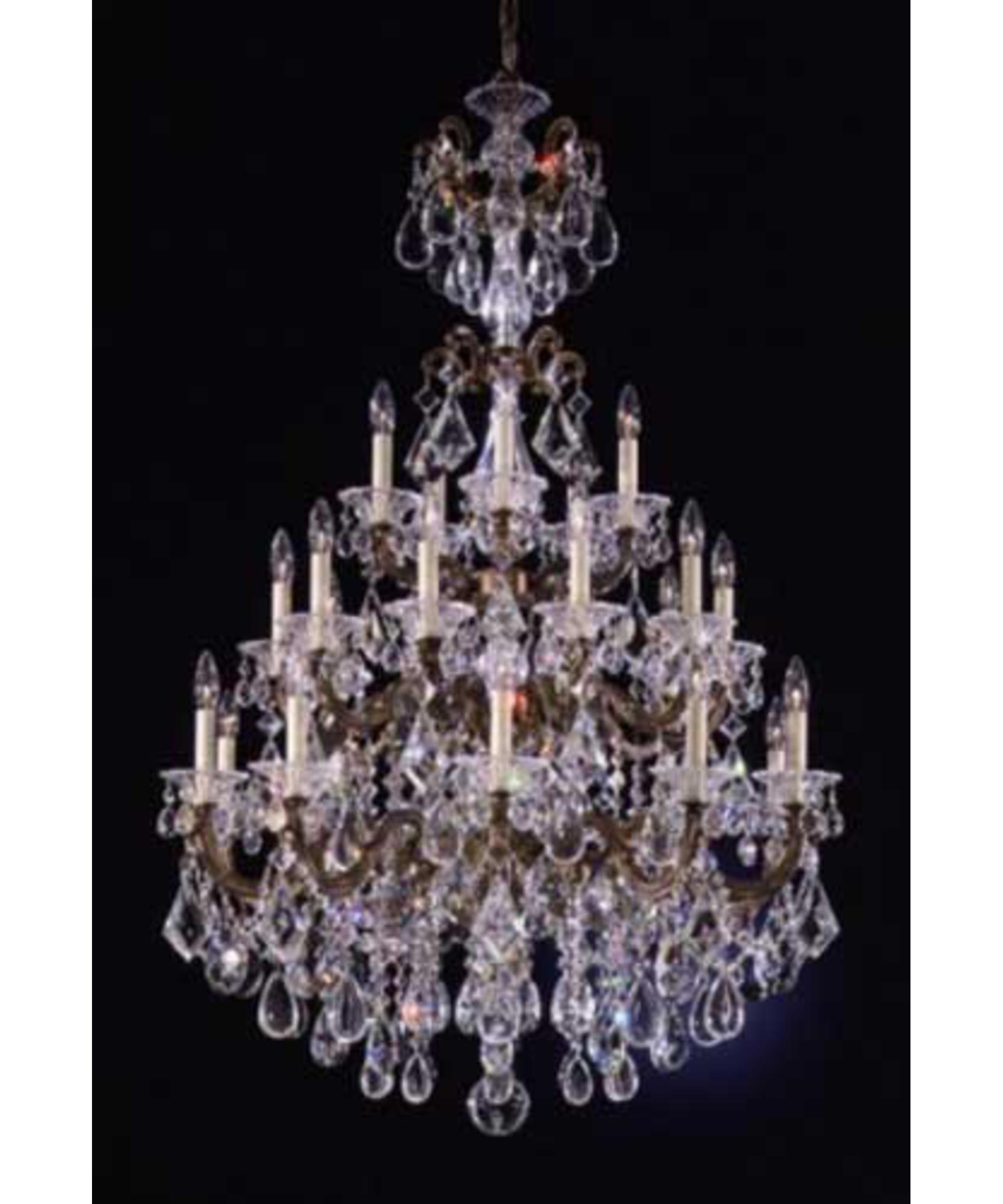 Schonbek La Scala 35 Inch Wide 25 Light Chandelier – La Scala Chandelier
