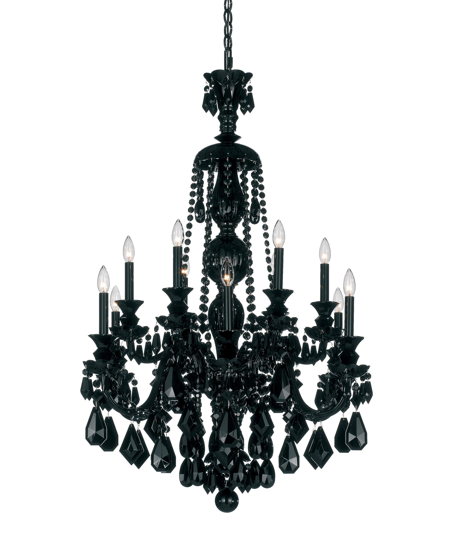 schonbek 5708bk hamilton black 30 inch wide 12 light chandelier capitol lighting - Schonbek Lighting