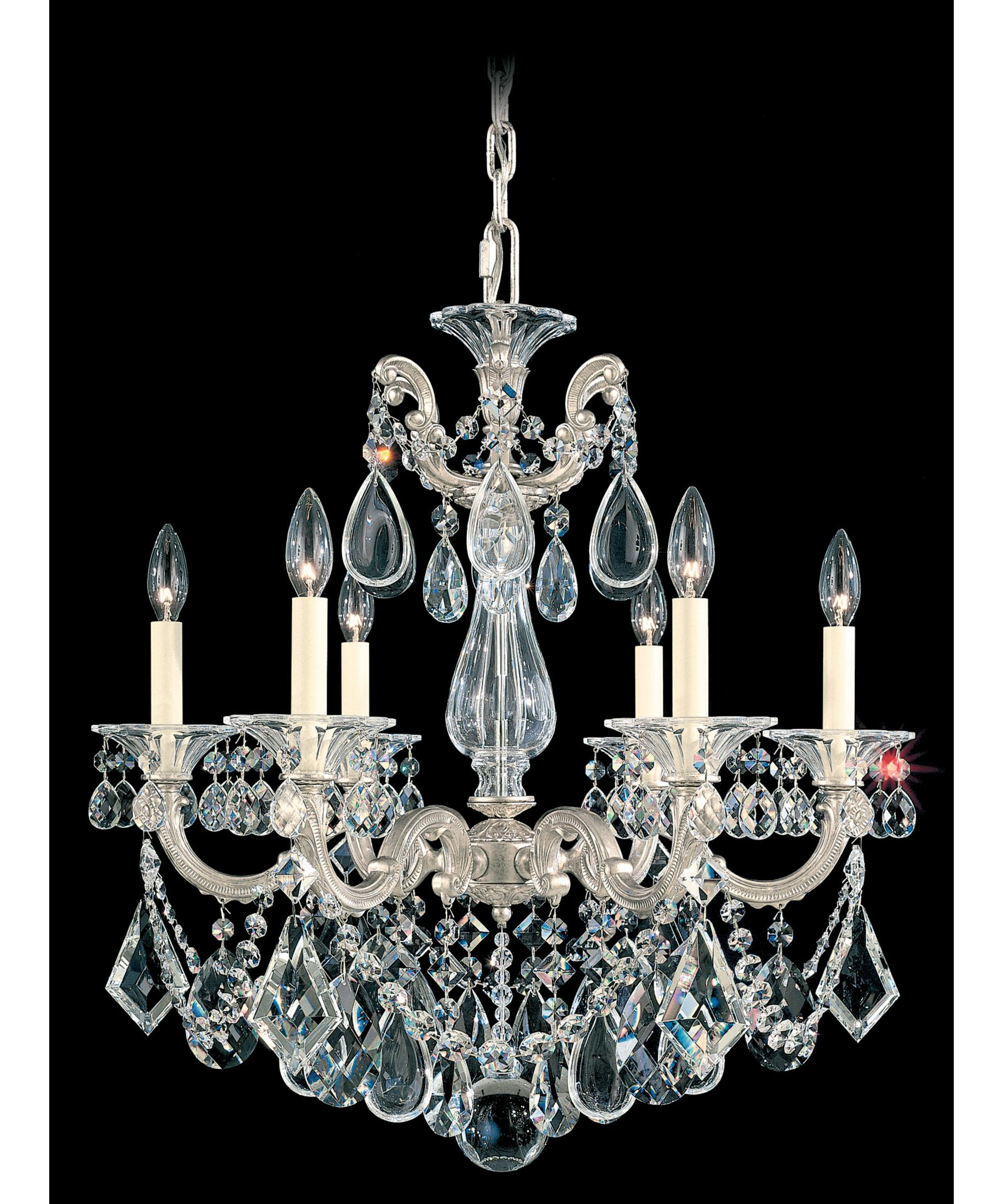 shown in antique silver finish and clear heritage handcut crystal - Schonbek
