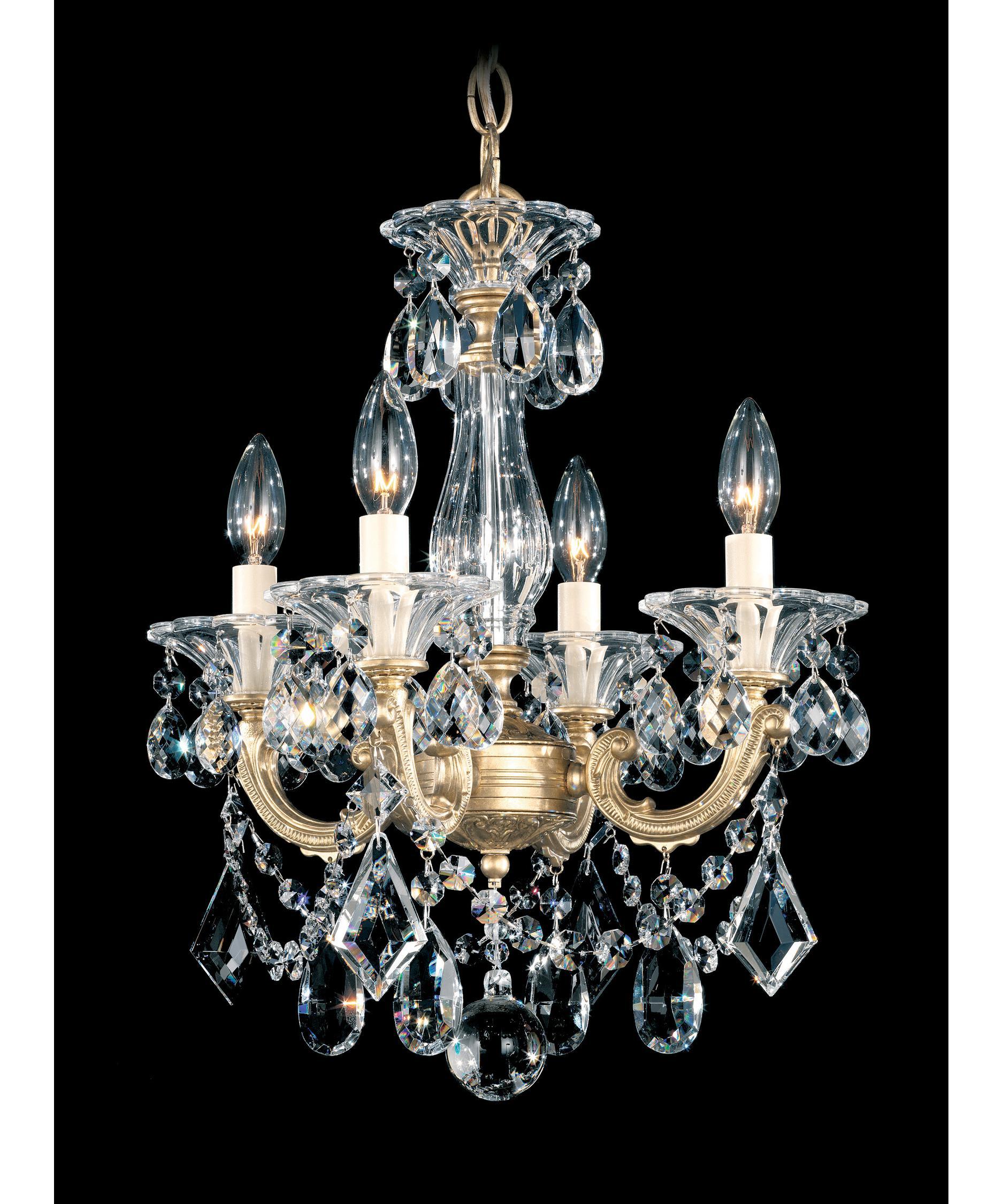 Schonbek La Scala 14 Inch Wide 4 Light Mini Chandelier – La Scala Chandelier