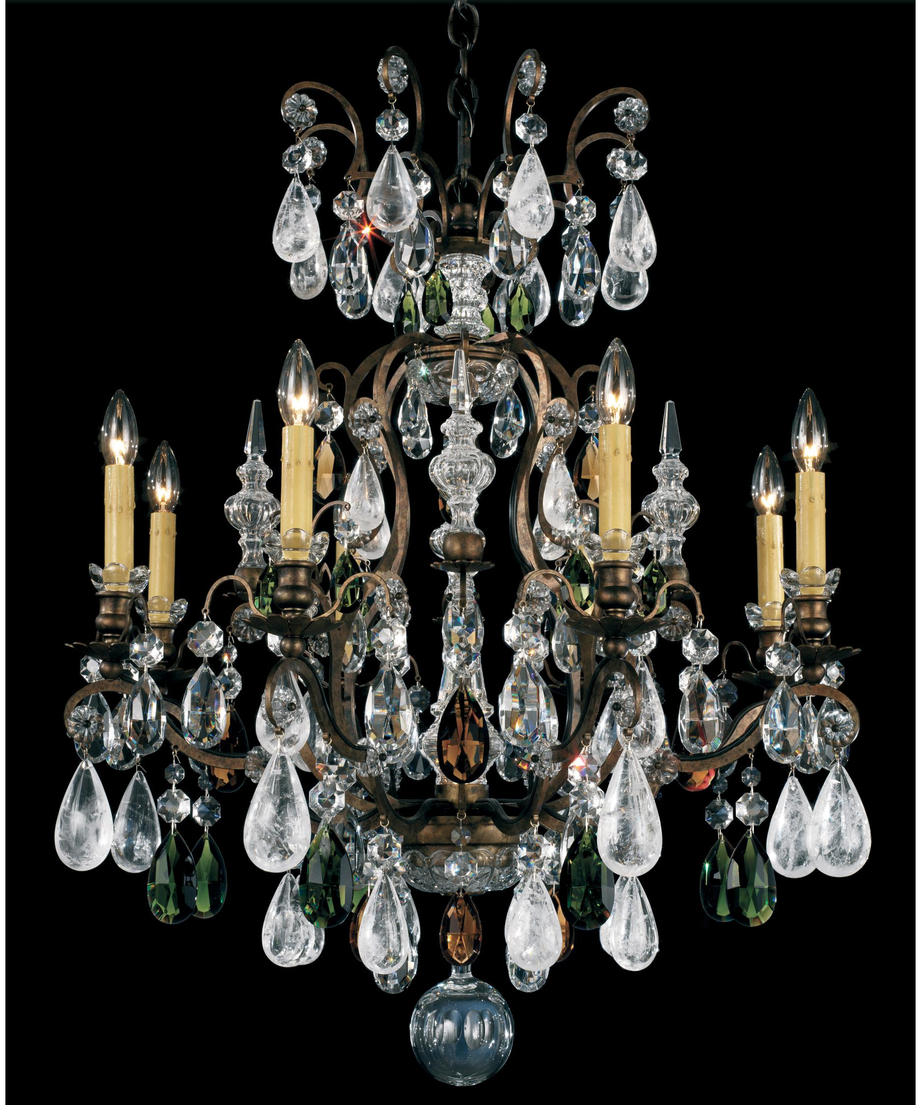 schonbek renaissance rock crystal 27 inch wide 8 light chandelier capitol lighting - Schonbek Chandelier