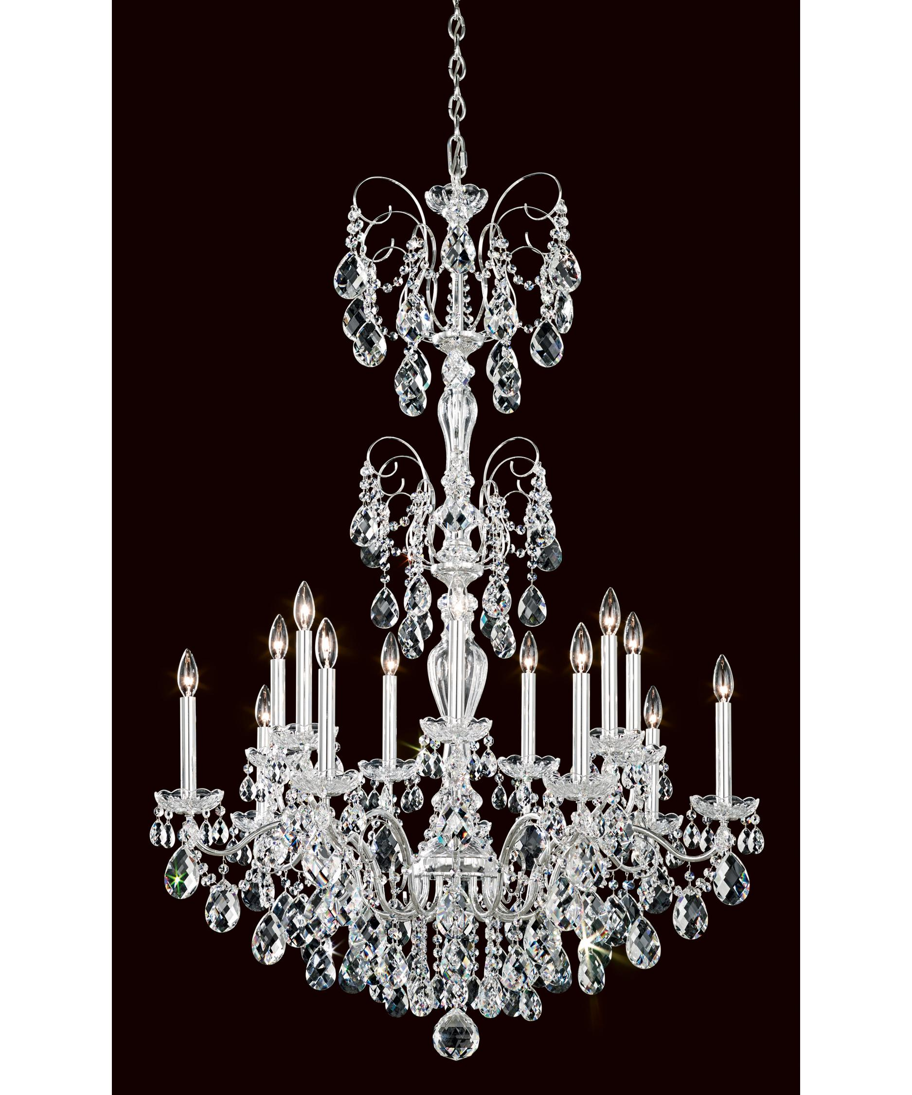 schonbek st1952 sonatina 35 inch wide 14 light chandelier capitol lighting - Schonbek Lighting