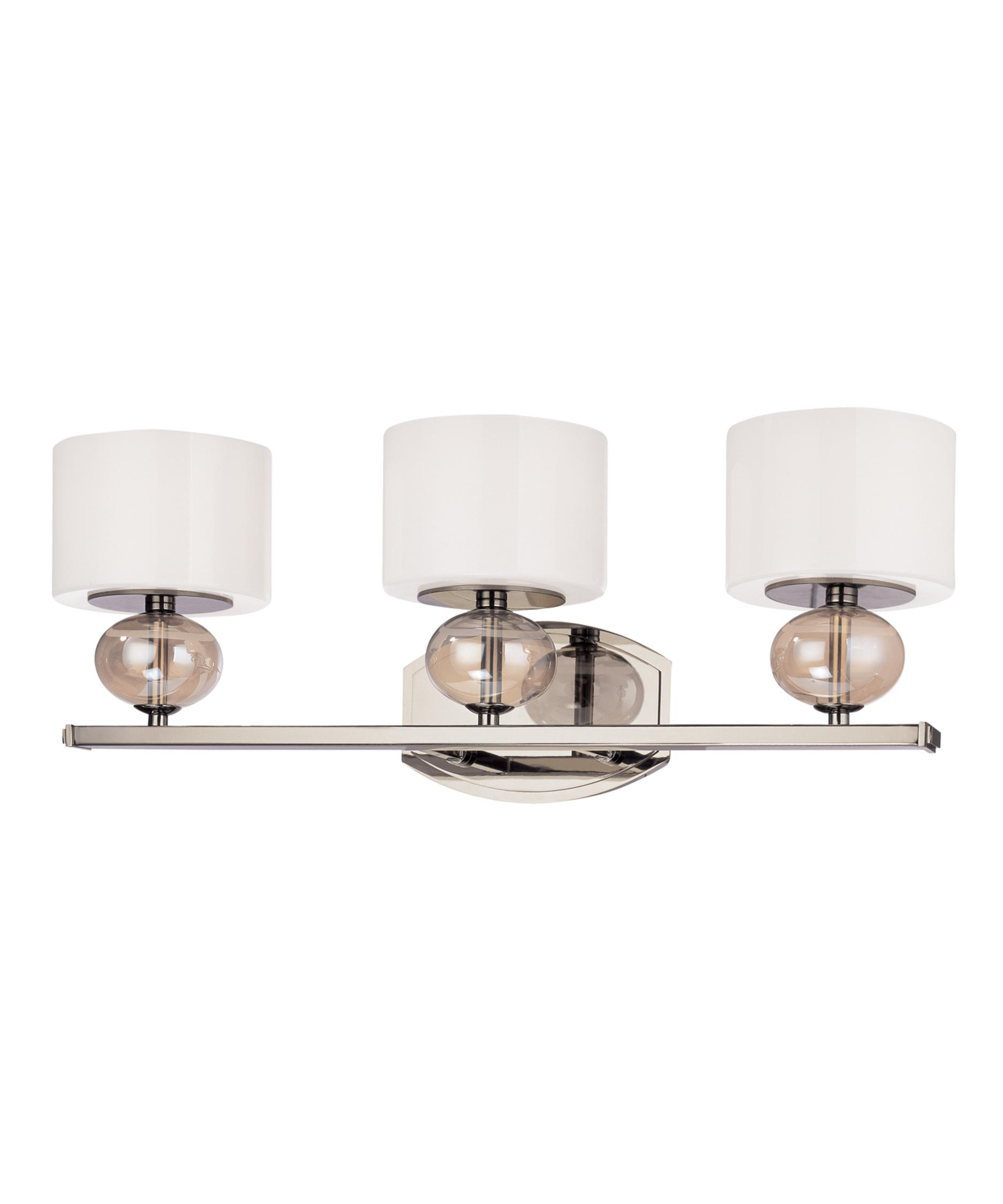 Bathroom Vanity Lights Polished Nickel troy lighting b2853 fizz 23 inch wide bath vanity light | capitol