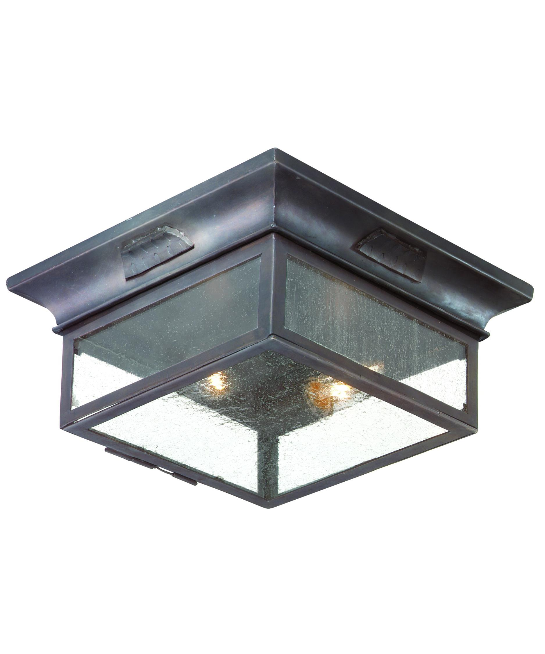 Ceiling Mount Outdoor Light Part - 19: Shown In Old Bronze Finish And Clear Seeded Glass