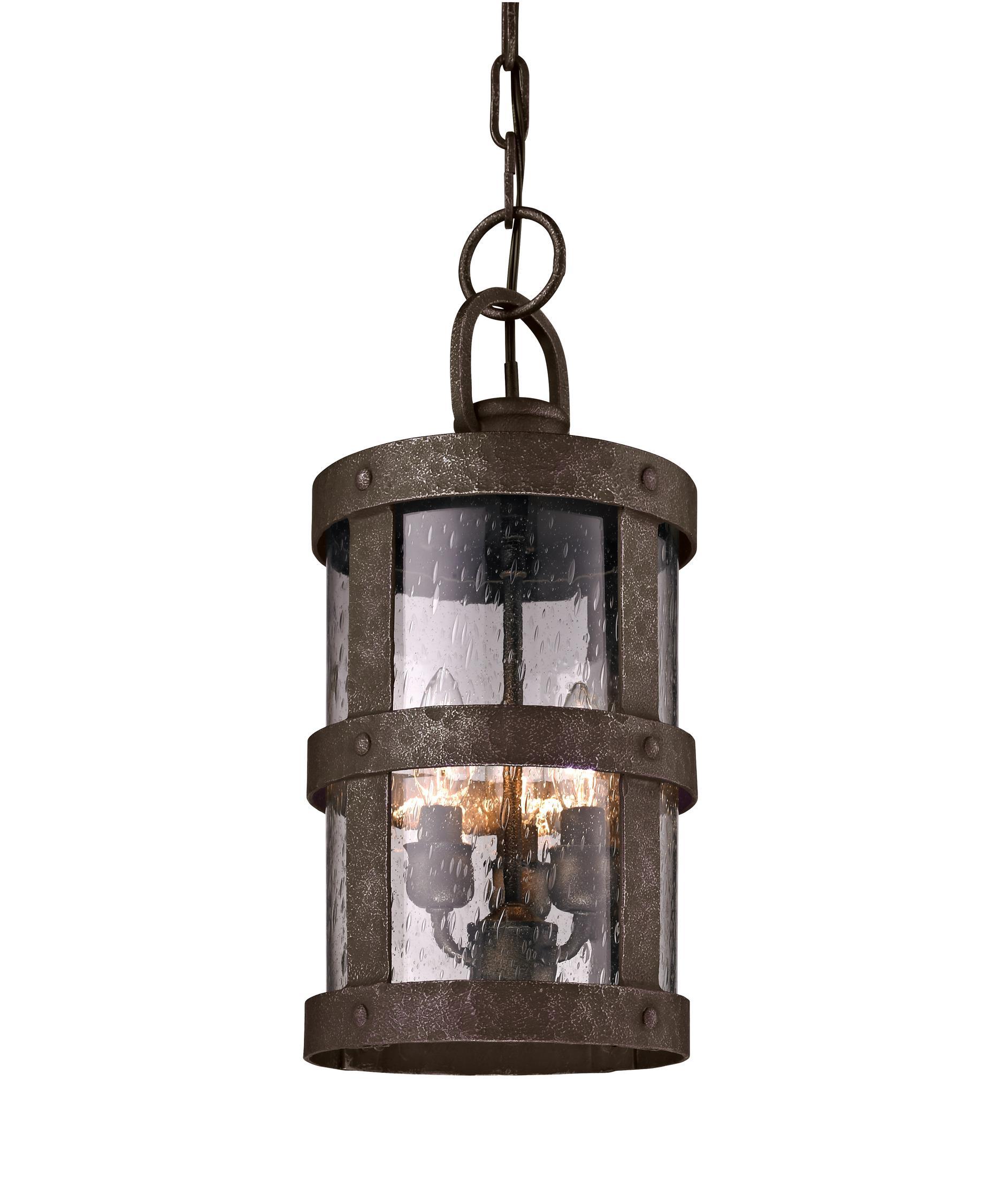 Outdoor hanging lamp - Troy Lighting F3317 Barbosa 8 Inch Wide 3 Light Outdoor Hanging Lantern Capitol Lighting 1 800lighting Com