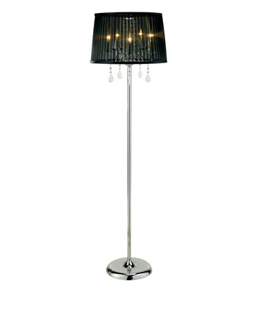 Shown in Chrome finish and Sheer Black Nylon shade
