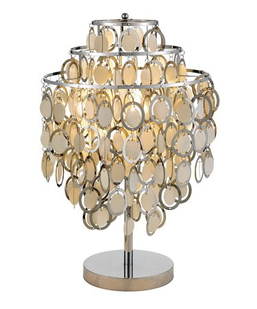 Shown in Chrome finish and Chrome Framed Round Paper Disc shade