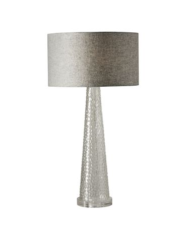 Shown in Clear Bubble finish and Light Grey Soft-Touch Fabric shade