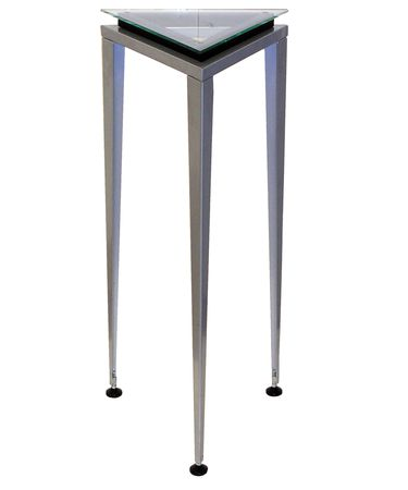 Shown in Steel finish and Tempered glass