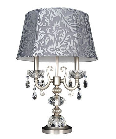 Shown in Brushed Nickel finish and Firenze Clear crystal
