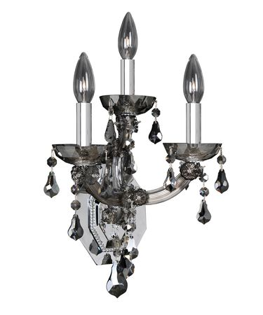 Shown in Polished Chrome finish and Firenze Smoked Fleet Argentine crystal