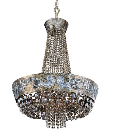 Shown in Antique Silver Leaf finish and Firenze Fleet Gold crystal
