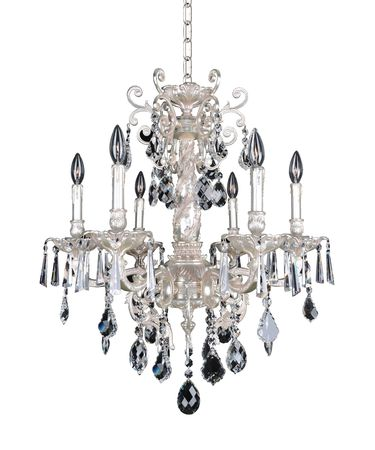 Shown in Antique Silver finish and Firenze Clear crystal