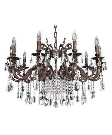 Shown in Sienna Bronze Antique Silver Leaf Accents finish and Firenze Clear crystal